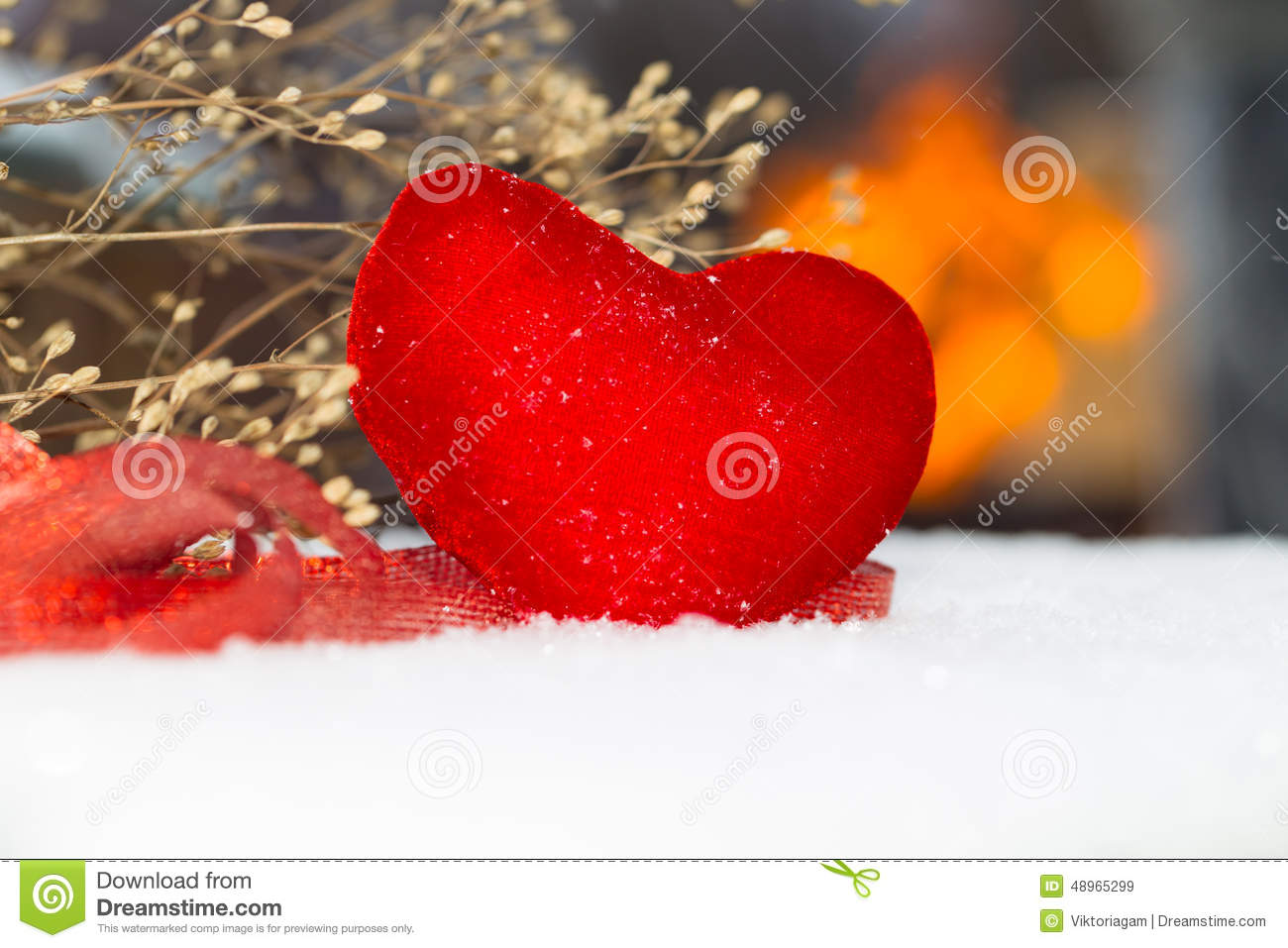 Red plush heart as a symbol of love valentines name stock image red plush heart as a symbol of love valentine s name biocorpaavc Images