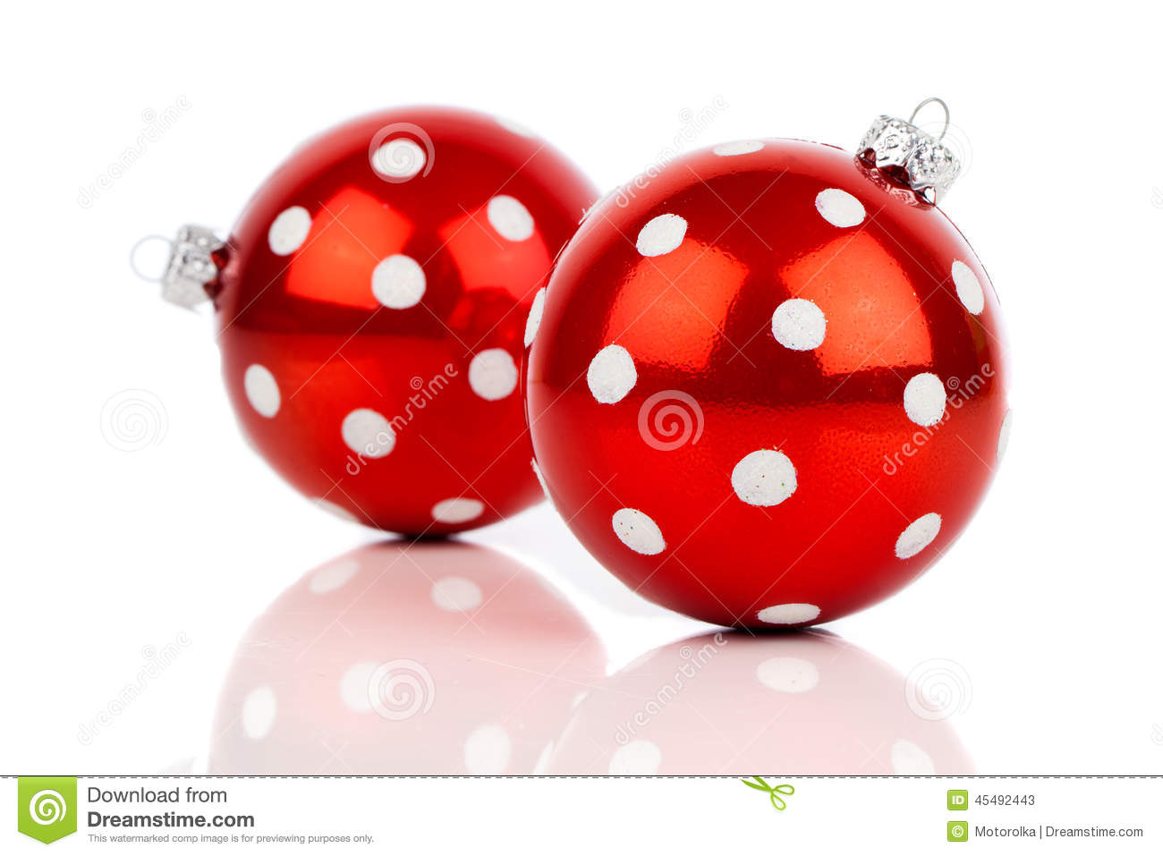 Polka dot christmas ornaments - Red Polka Dot Christmas Bauble