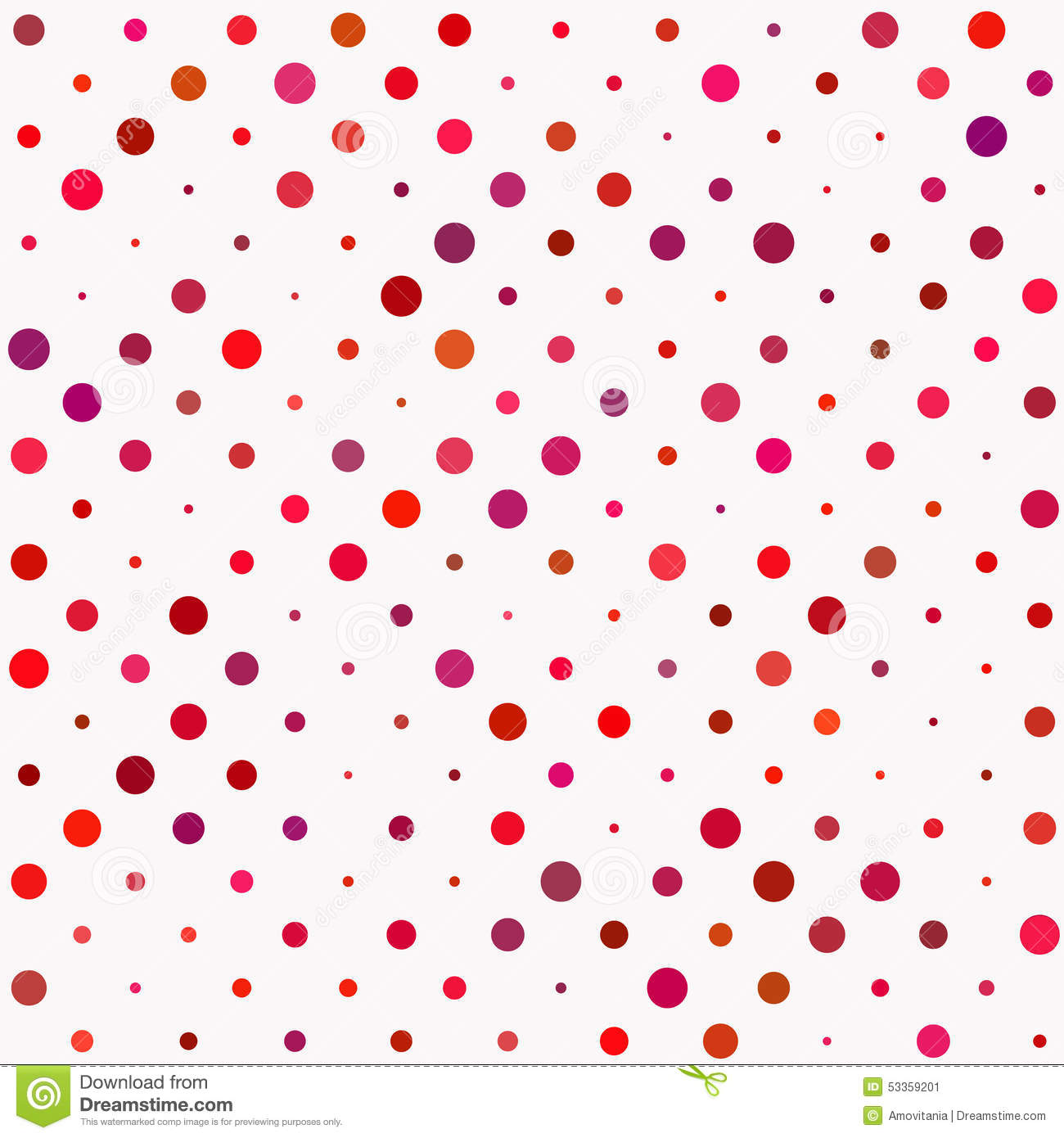 Red polka dot pattern stock vector image 53359201 for Red and white polka dot pattern