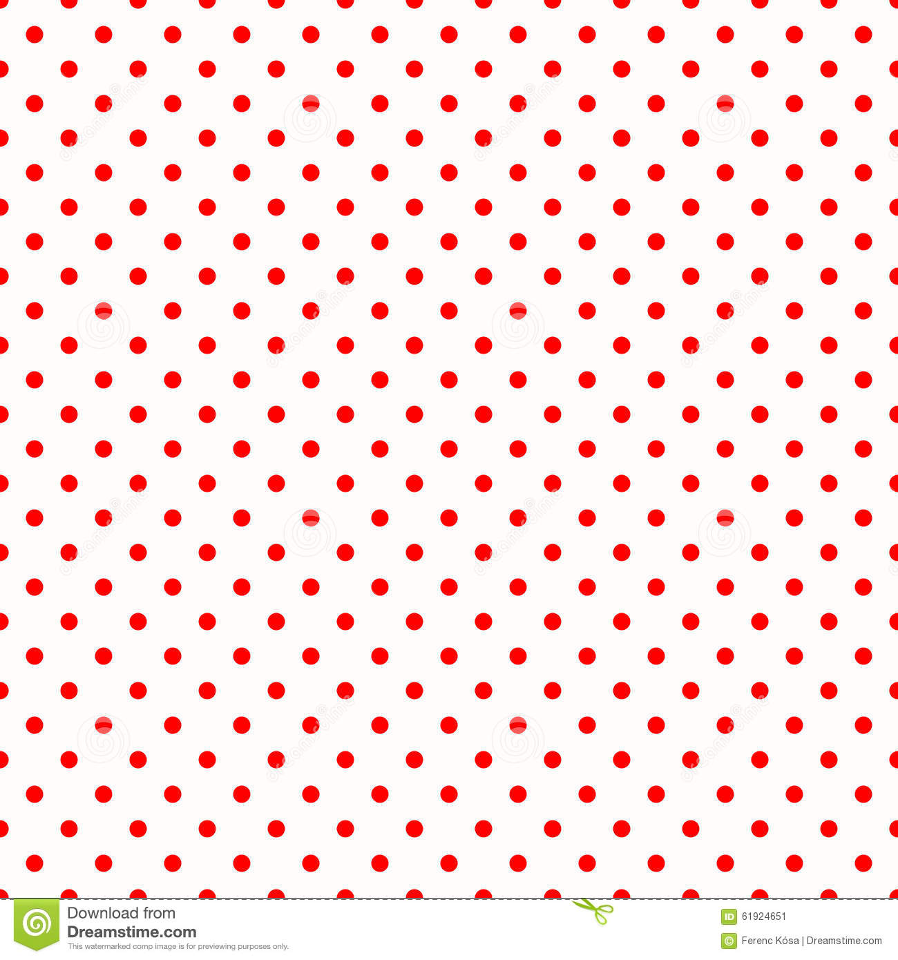 Red polka dots on white pattern stock illustration image for Red and white polka dot pattern