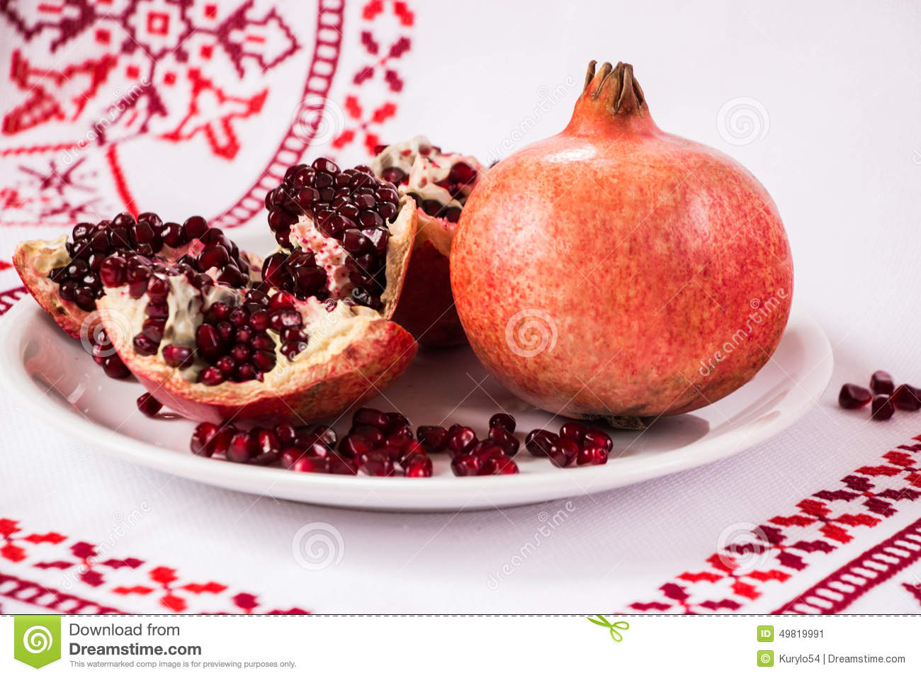 Red Pomegranate Life Symbol Stock Image Image Of Fruit Love