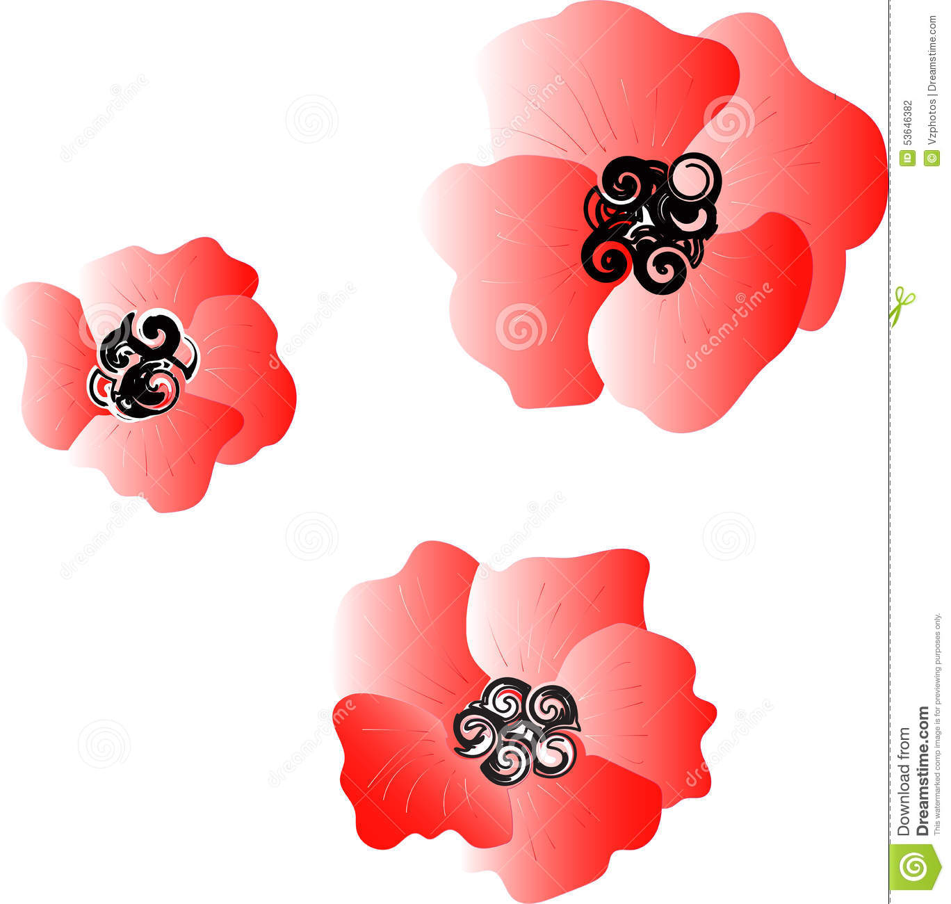 Red poppy stock vector illustration of sunday pattern 53646382 red poppy buycottarizona
