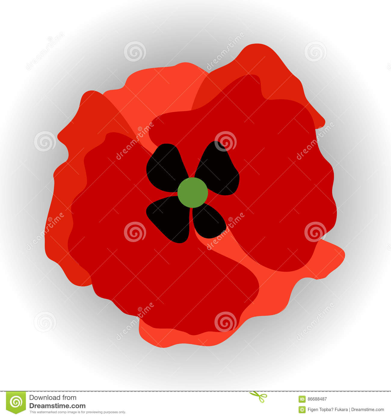 Red poppy icon stock vector image of graphic single 86688487 red poppy icon buycottarizona