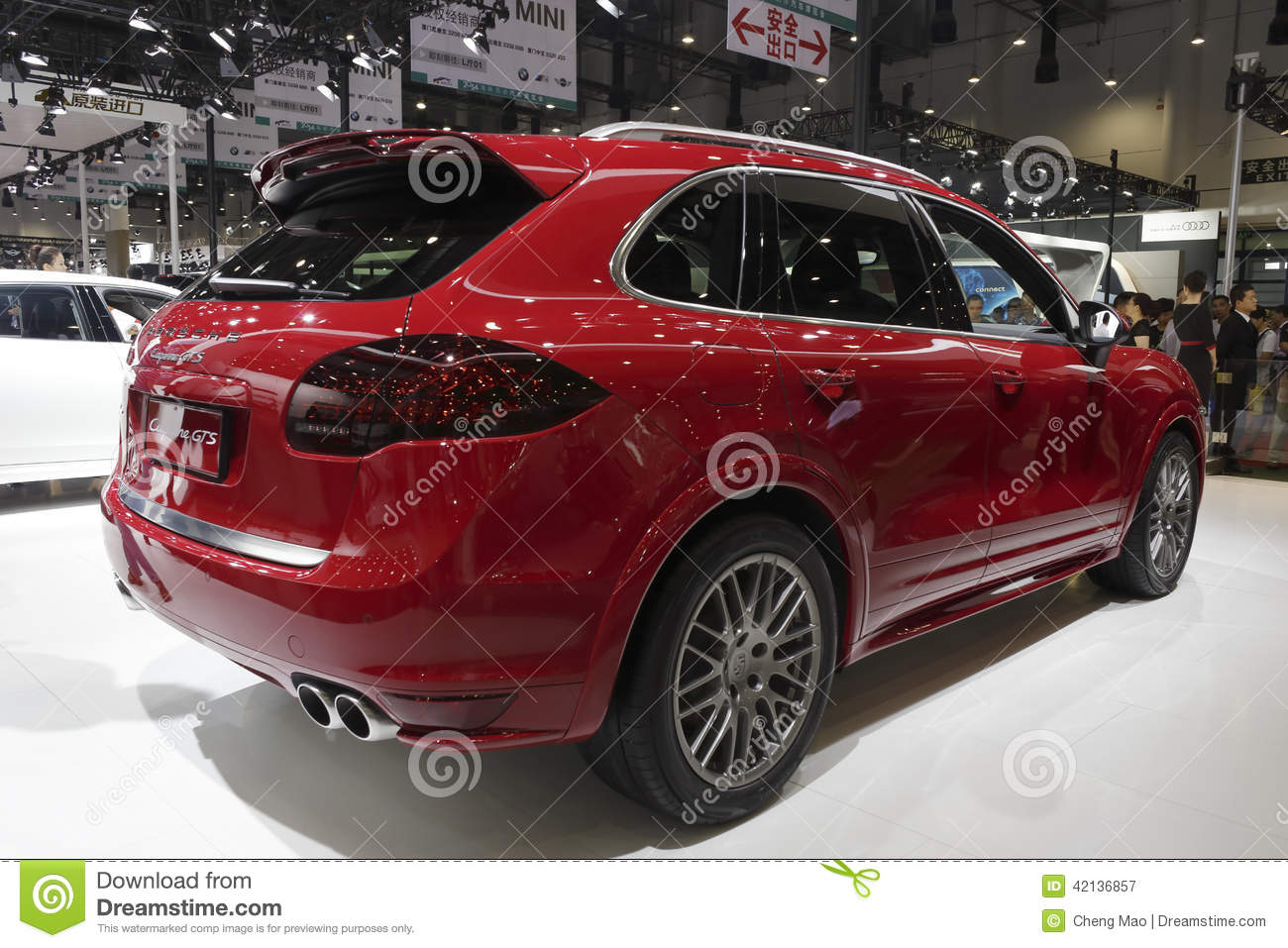 Red Porsche Cayenne Gts Suv Rear View Editorial Photography Image Of Luxury Wheel 42136857