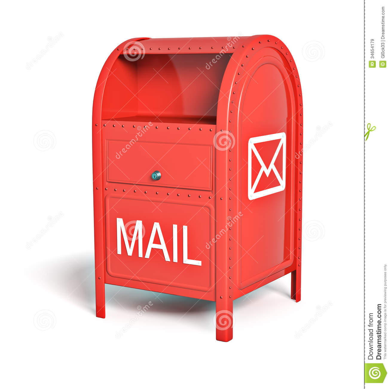 Post: Red Post Box Stock Illustration. Image Of Empty, Letter