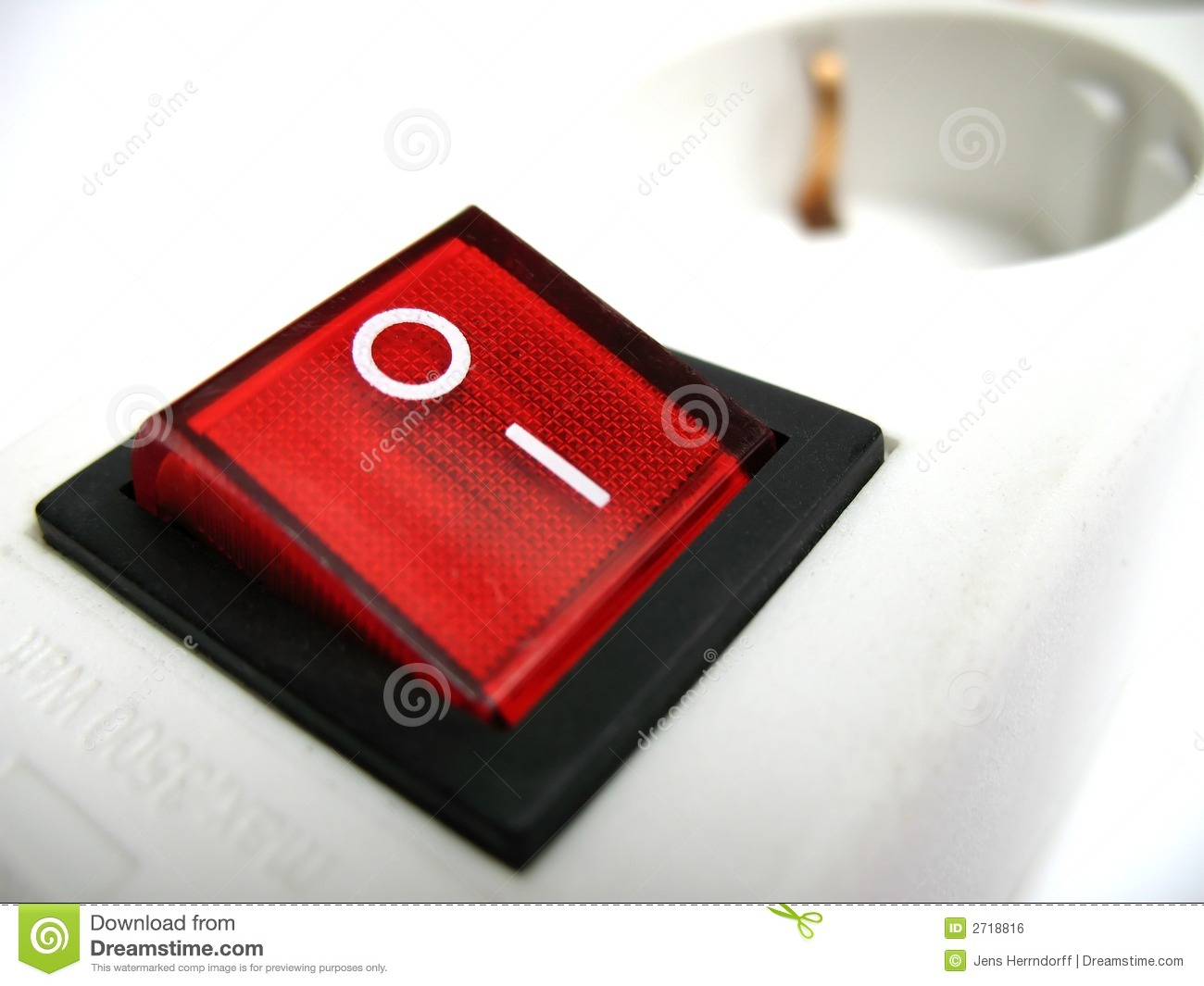 Red power switch