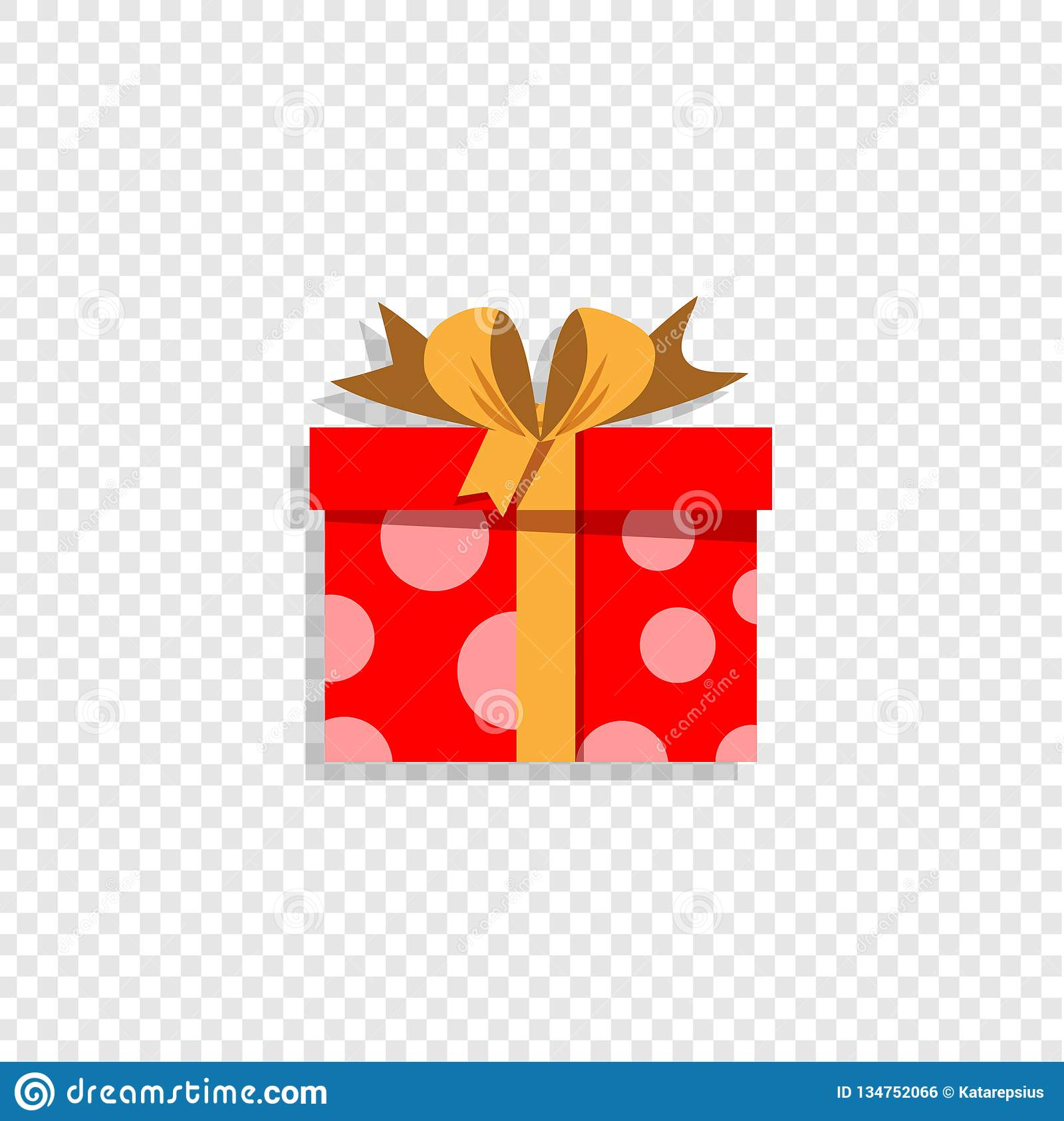 Red Present Box Isolated On Transparent Background Clip Art Stock Vector Illustration Of Birthday Element 134752066