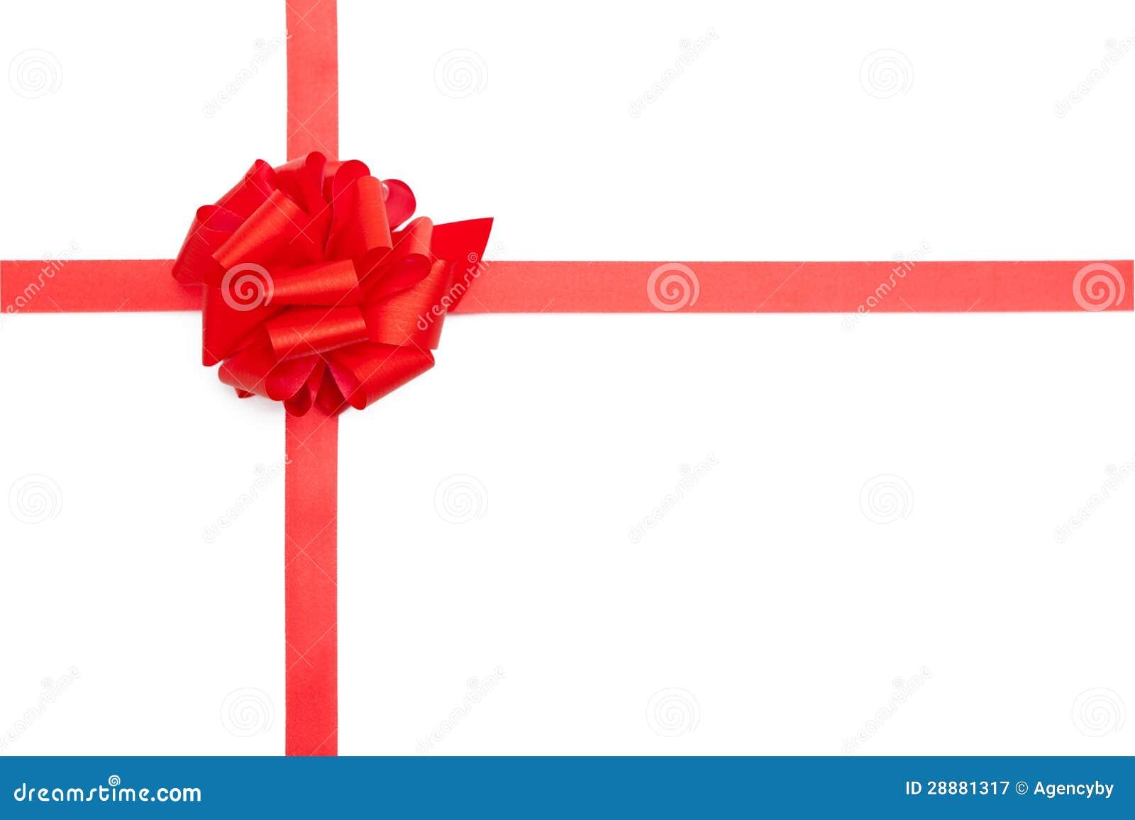 Red present ribbon bow stock image. Image of celebration
