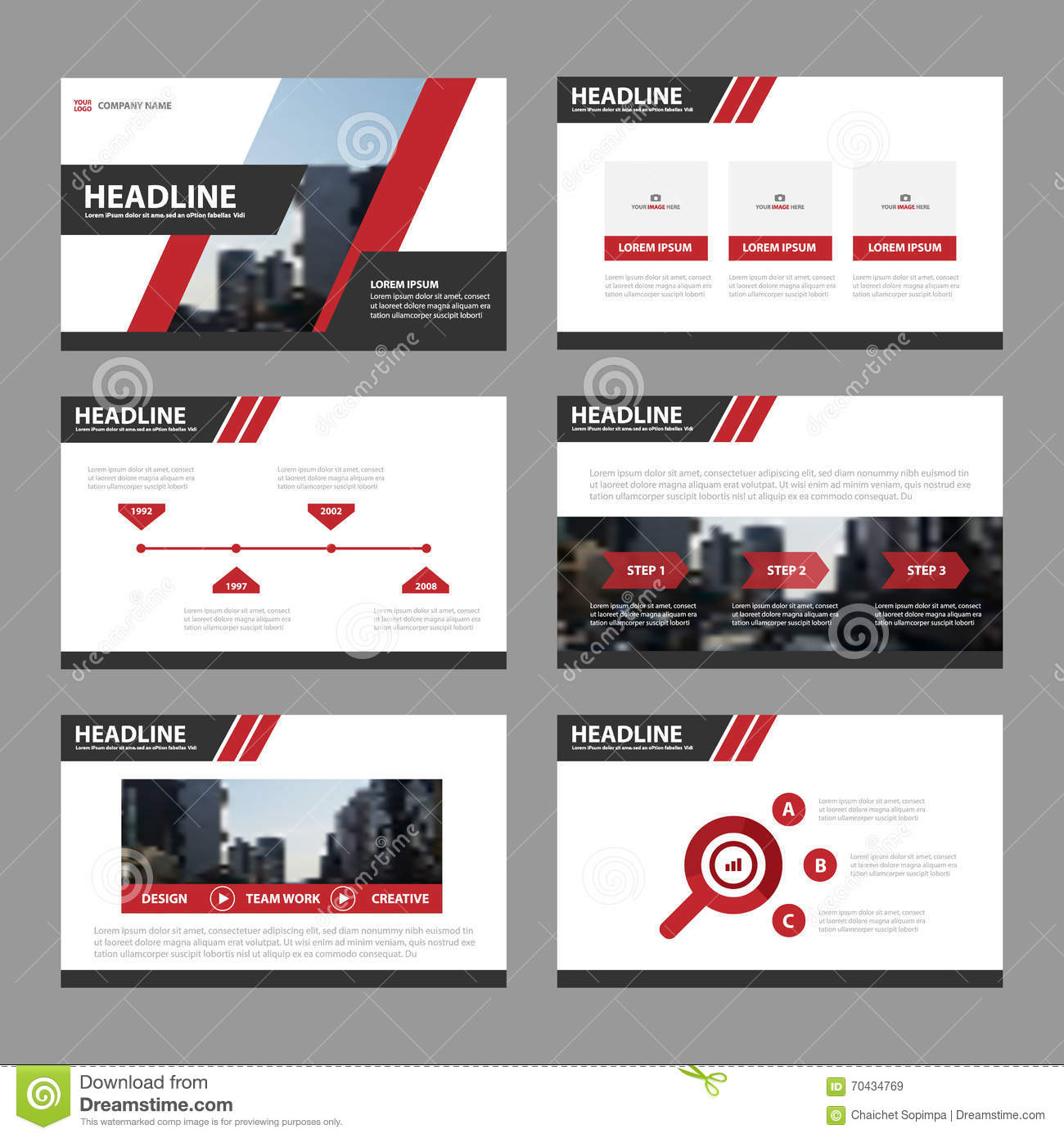 set of advertising templates stock vector image 72286438 red presentation templates infographic elements flat design set for brochure flyer leaflet marketing advertising royalty