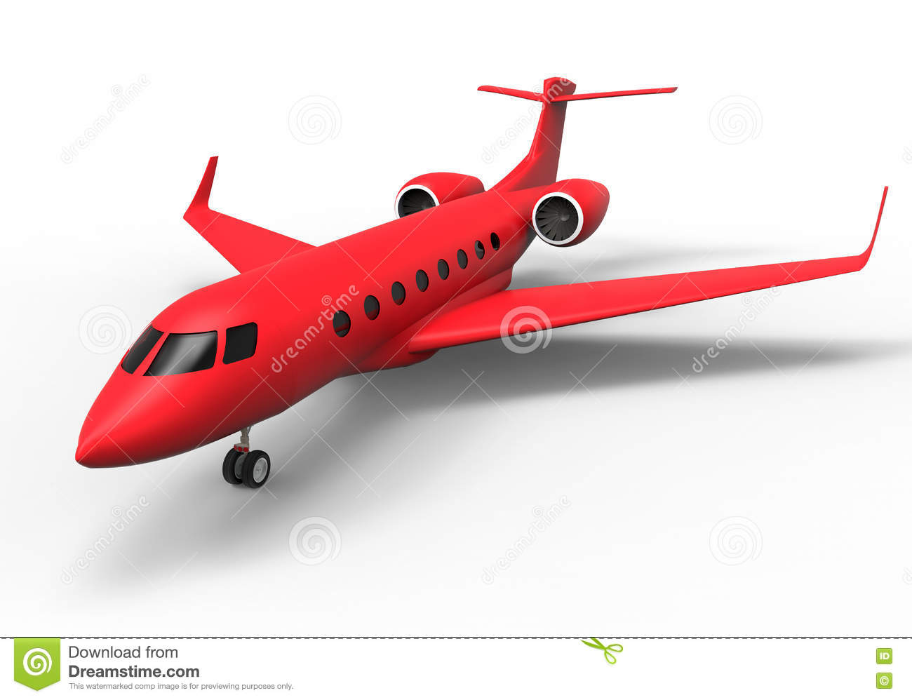 Red Private Jet Stock Illustration  Image 81348625