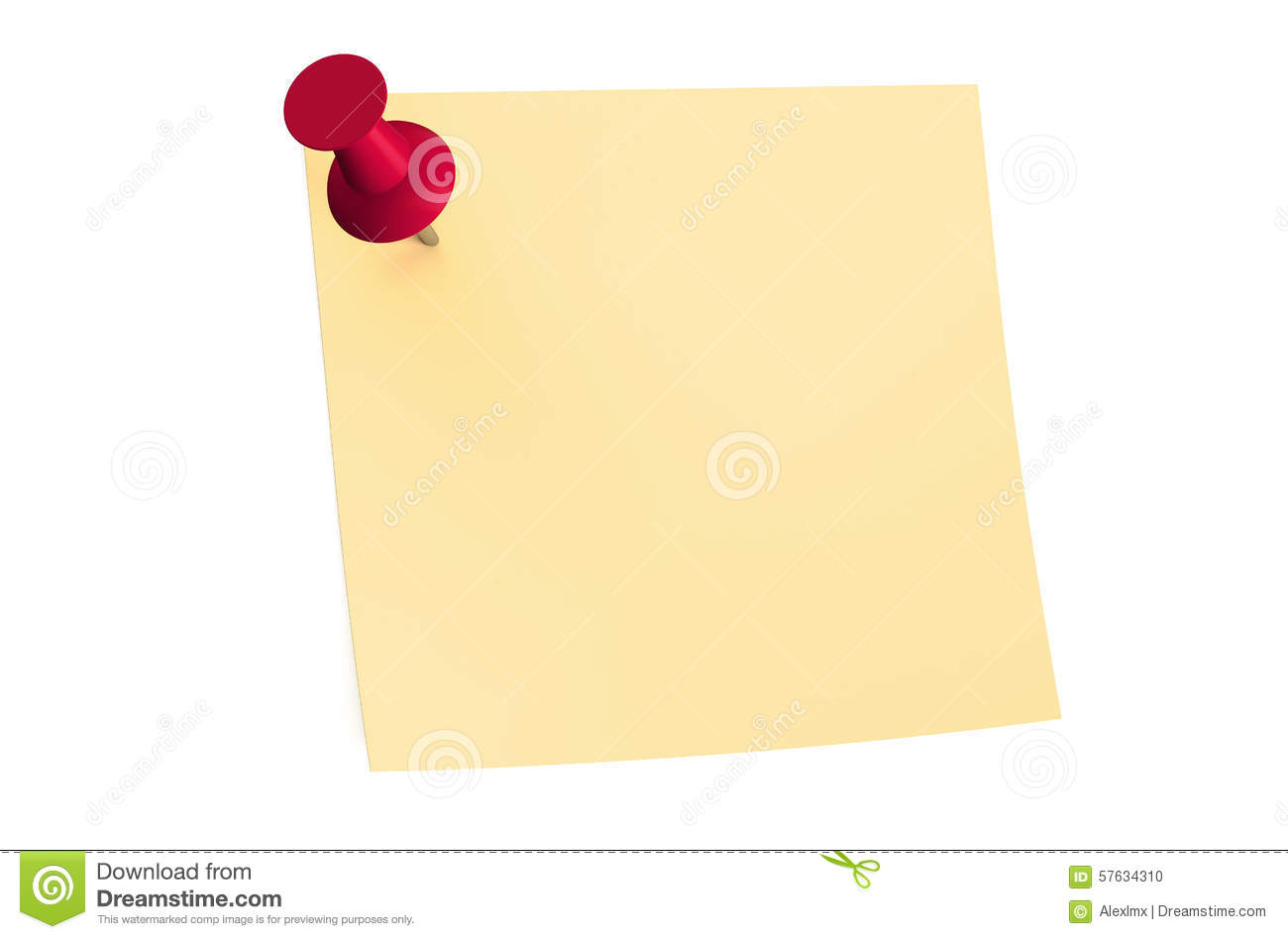 red push pin blank sticky note stock illustration image red push pin blank sticky note