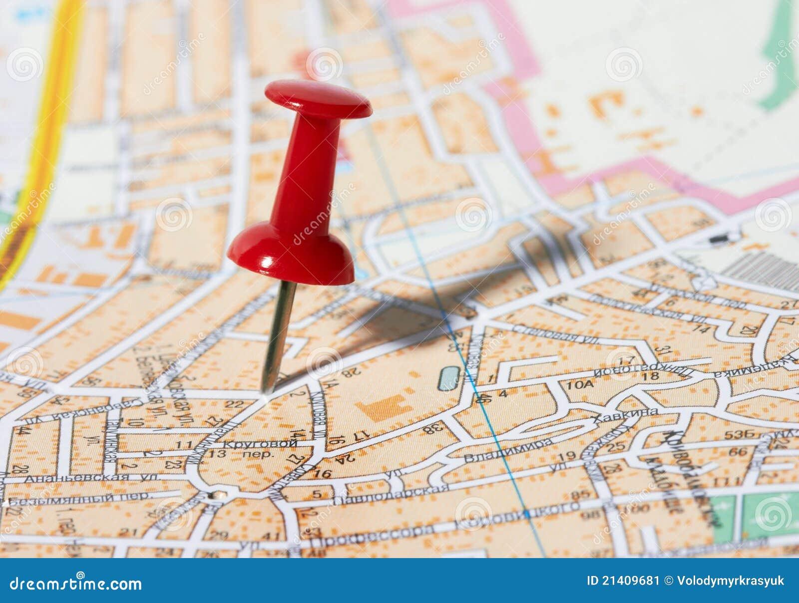 Pushpin Map Stock graphy Image