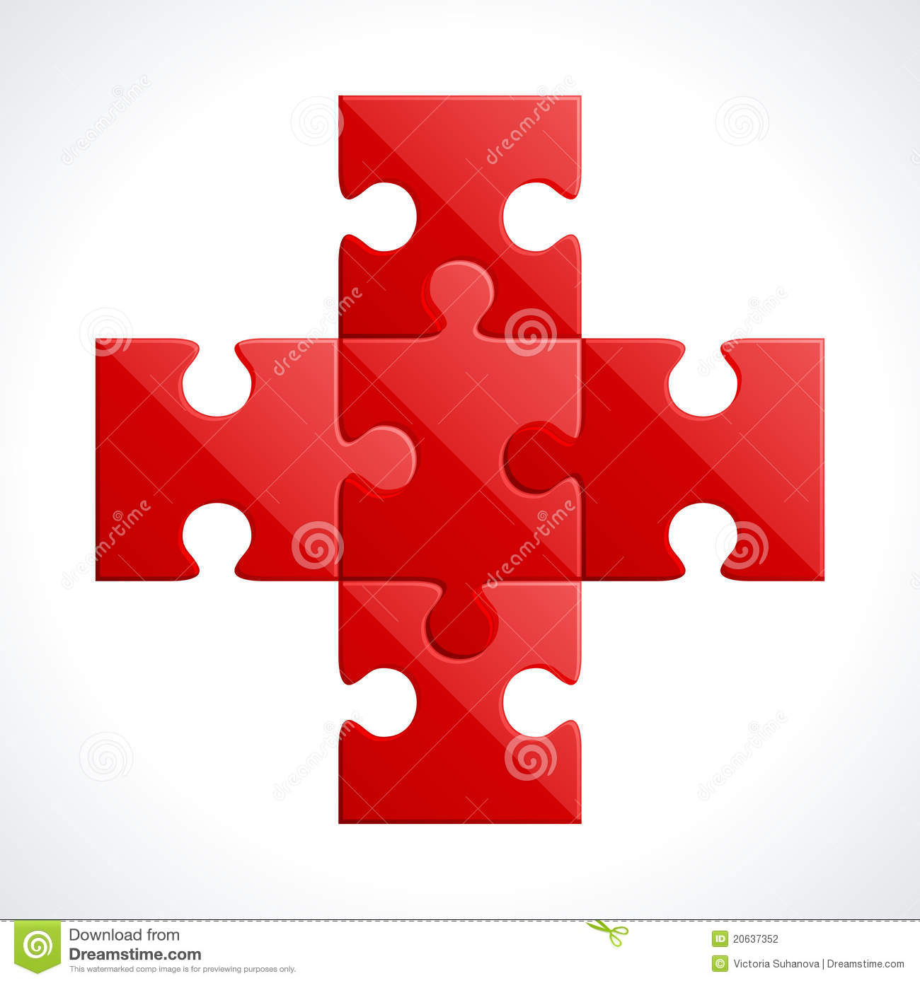 red puzzle pieces stock illustration image of puzzle