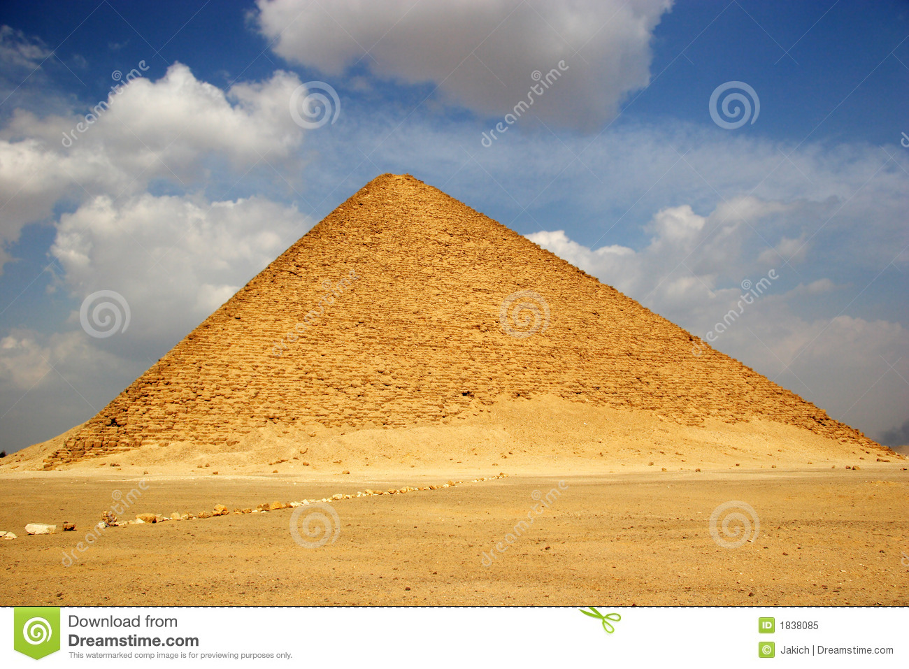 The Red Pyramid of Dahshur in Egypt