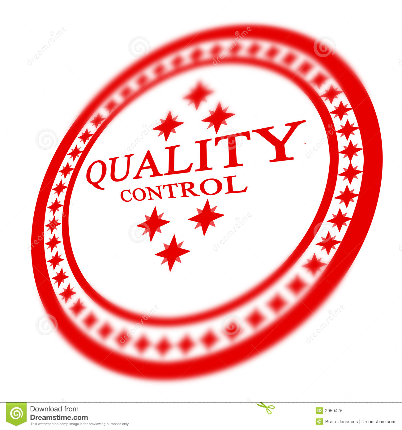 Red Quality Control Stamp Royalty Free Stock Image - Image: 2950476