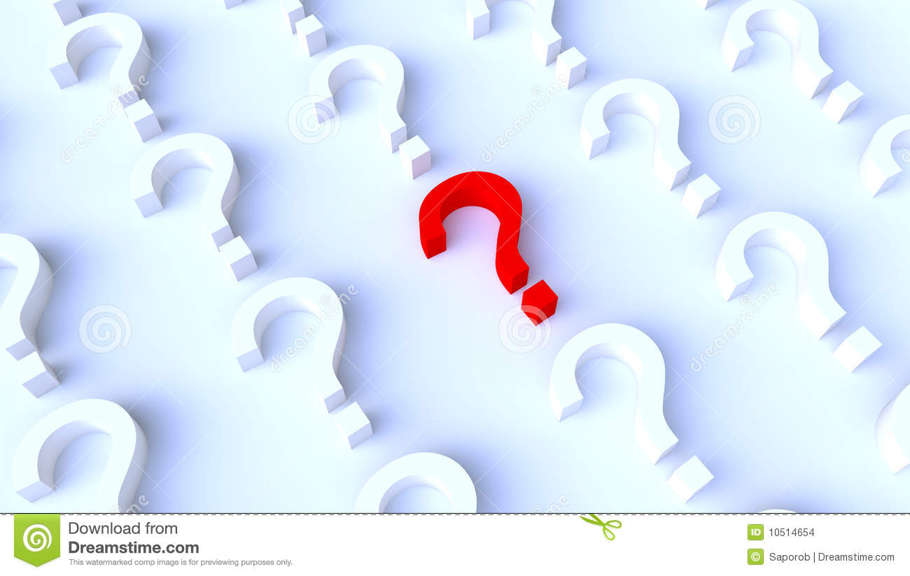 Red Question Mark Background Stock Images - Image: 10514654