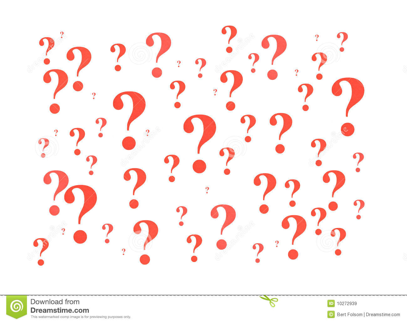 Red Question Marks Royalty Free Stock Images - Image: 10272939