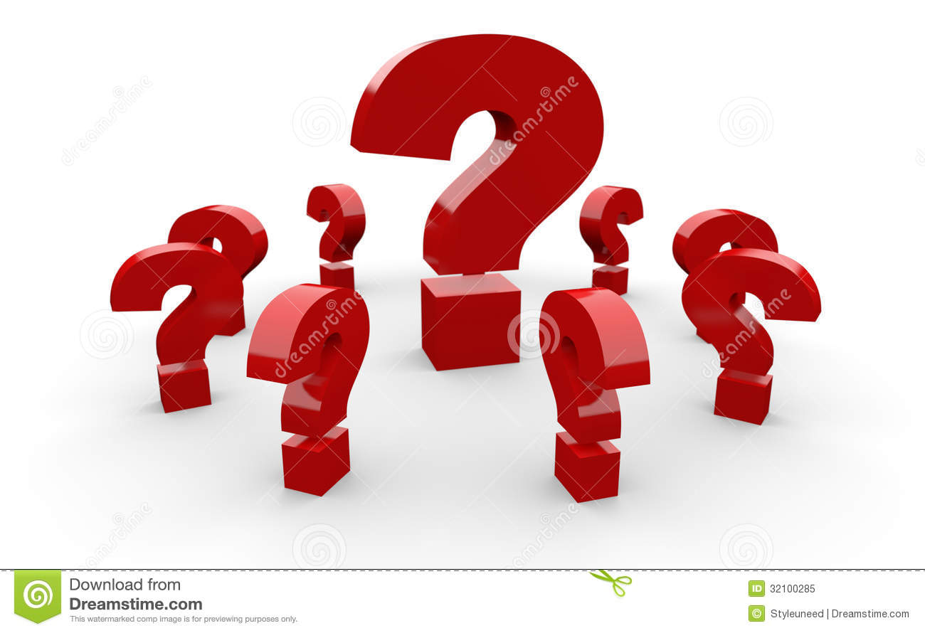 Red Question Marks Royalty Free Stock Photo - Image: 32100285