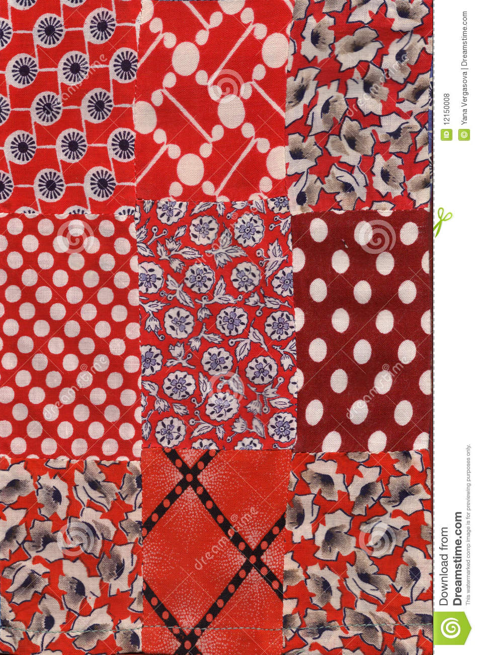 Red quilt pattern royalty free stock photos image 12150008 for Red door design quilts