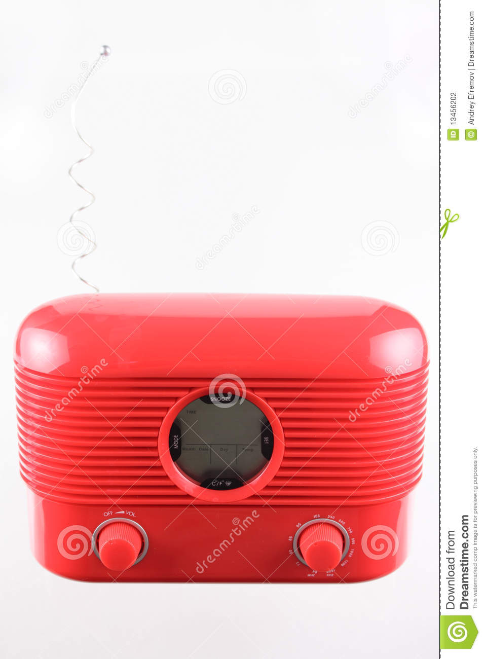 Download Red radio receiver stock photo. Image of portable, 1980 - 13456202