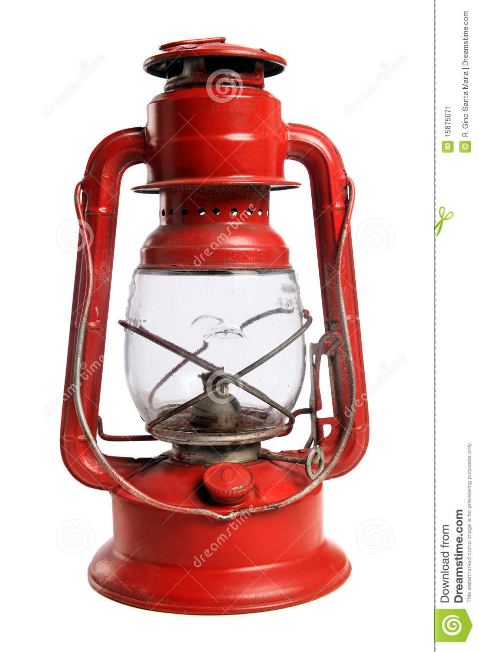 Red Railroad Lantern Stock Image Image Of Camping Fuel