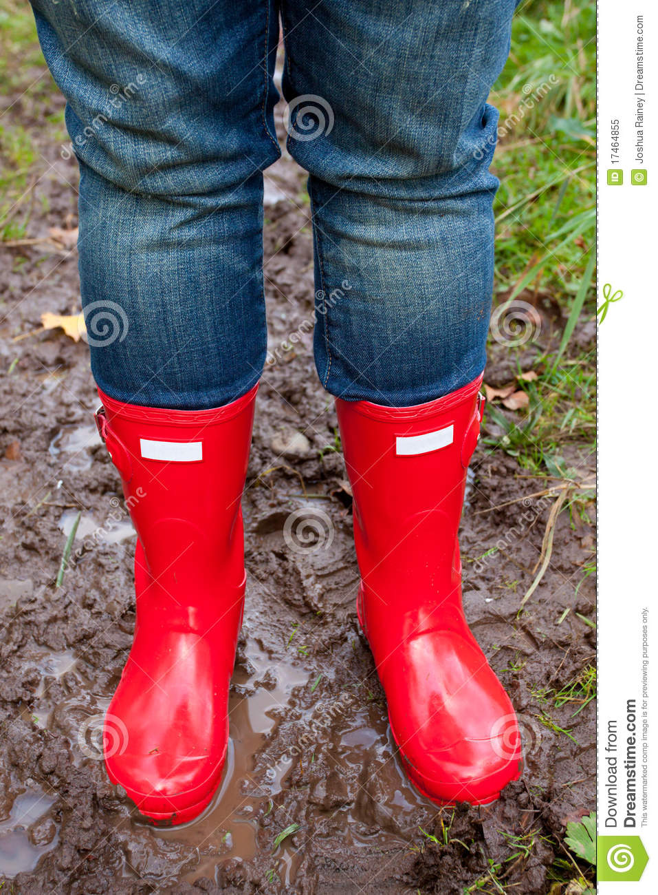Red Rain Boots Royalty Free Stock Photo - Image: 17464855