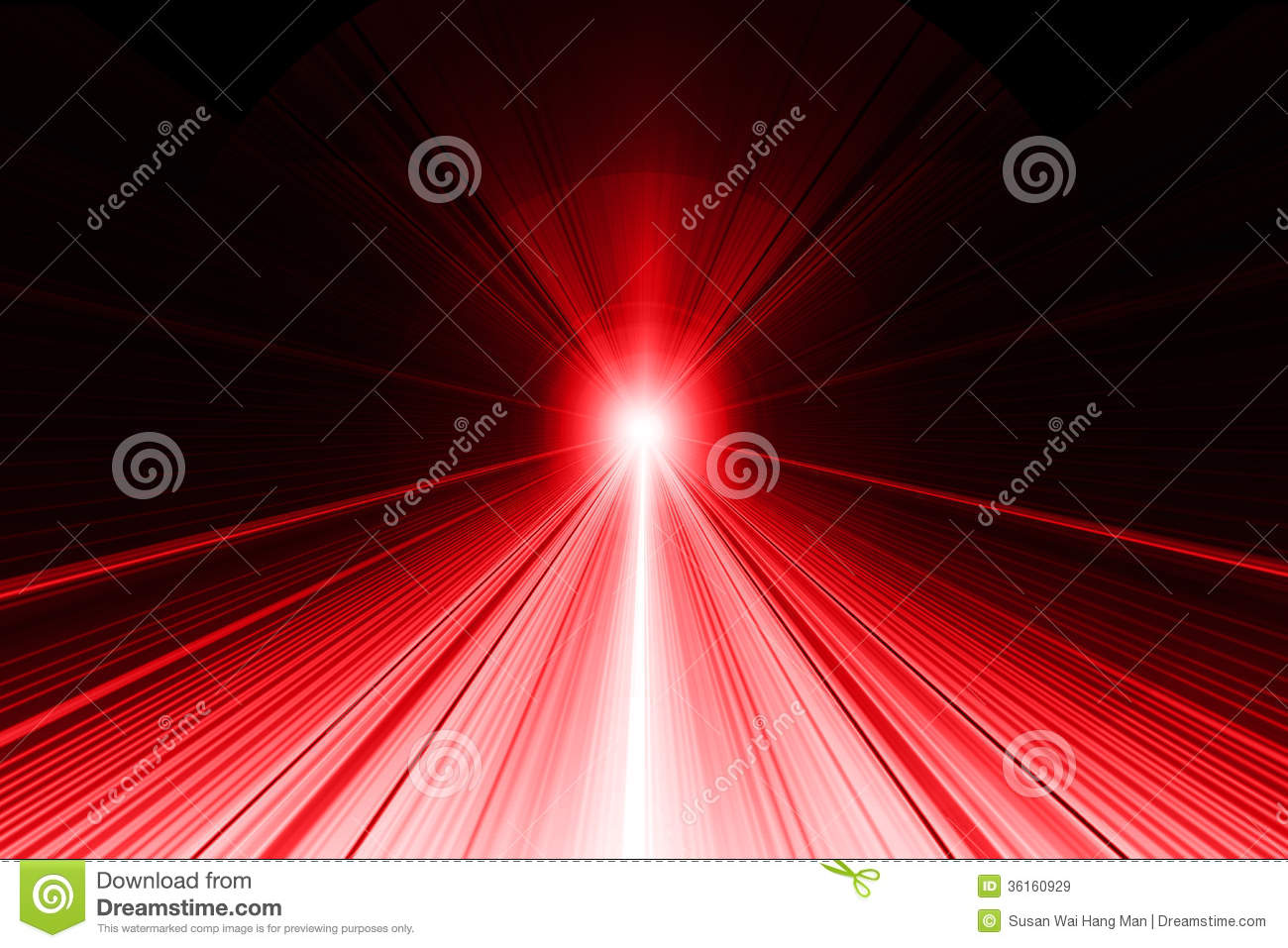Ray Of Light Abstract Background Red On Black Stock