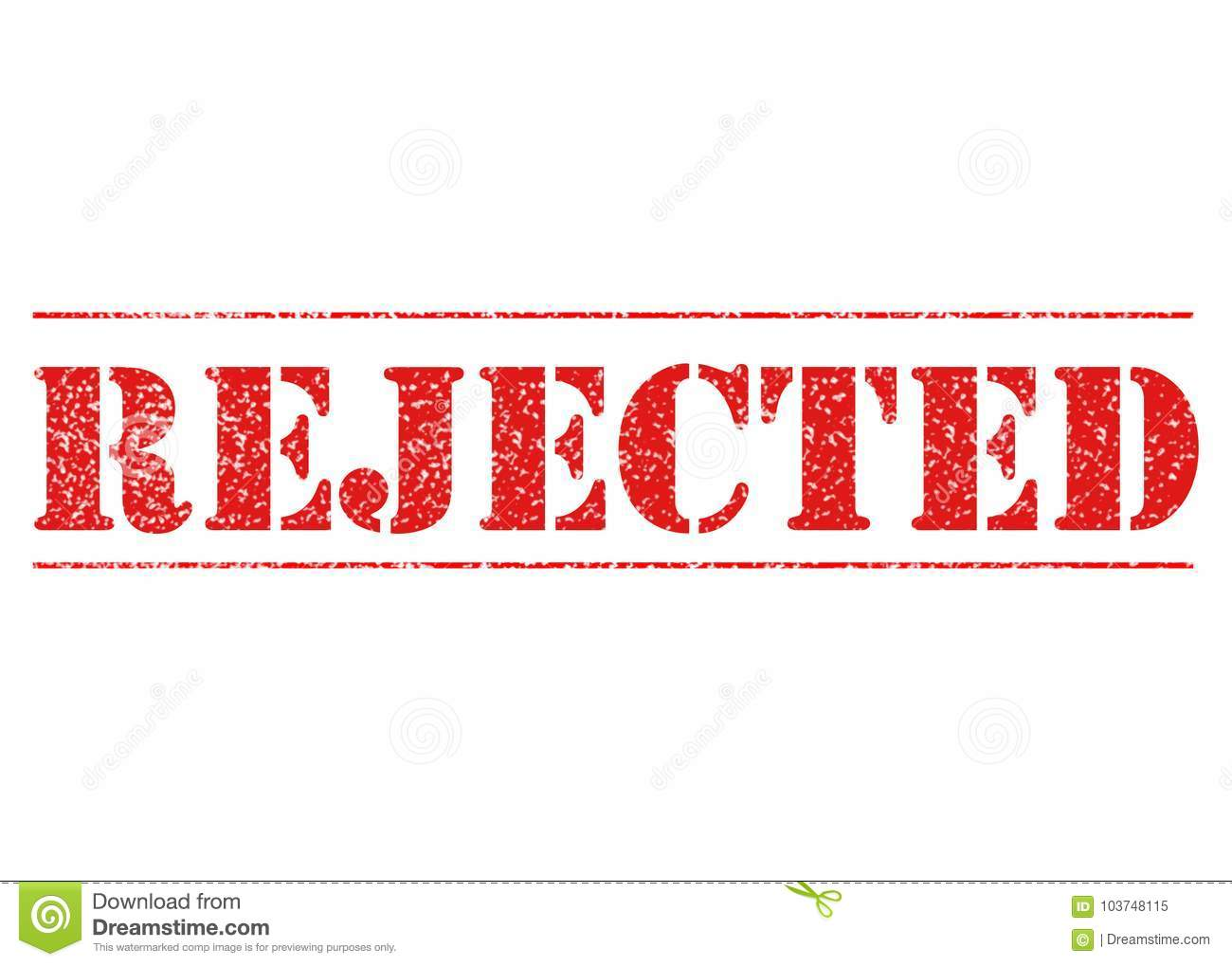 RED REJECTED STENCIL stock image  Illustration of modern - 103748115