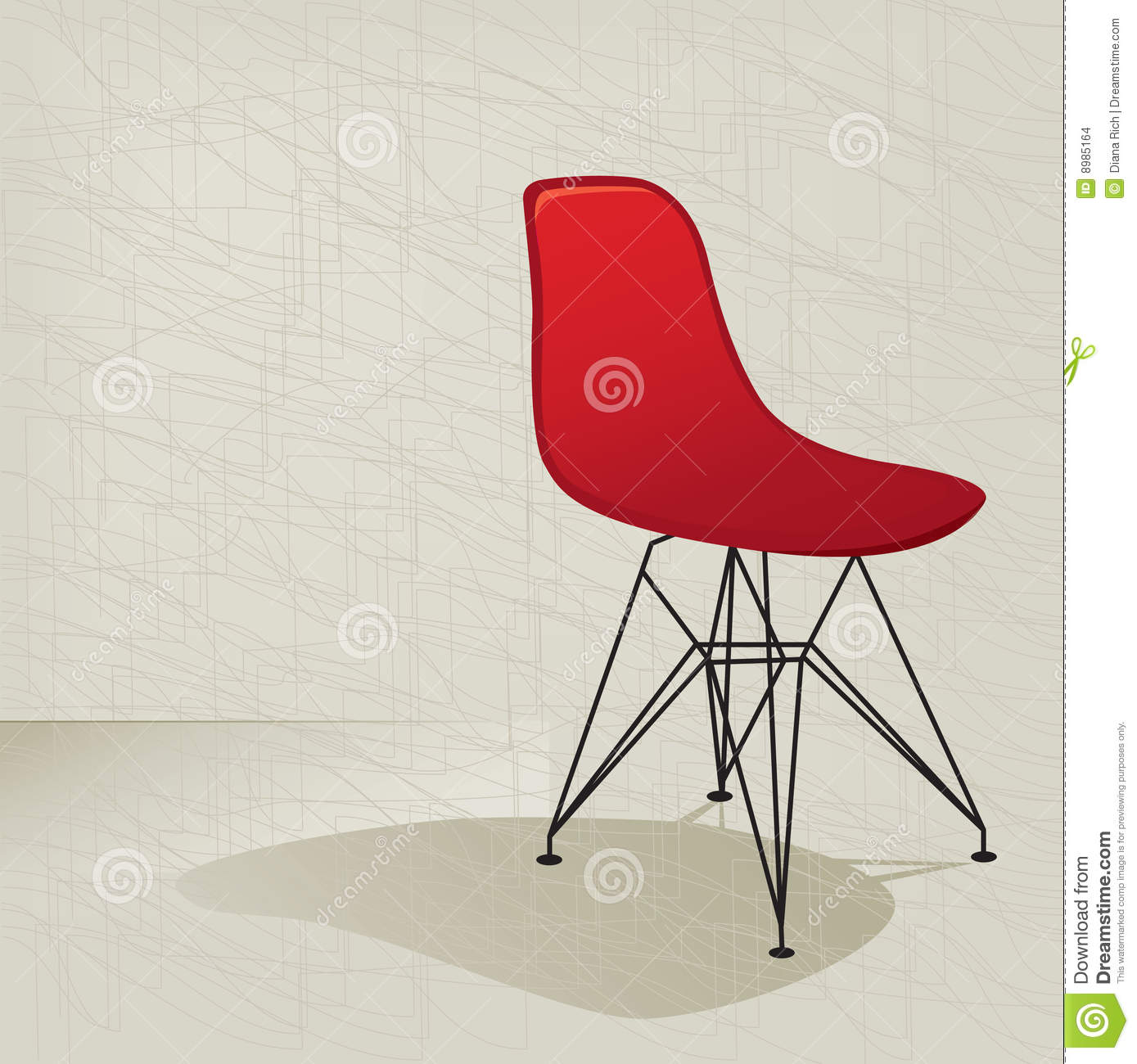 red retro 50s chair stock images image 8985164