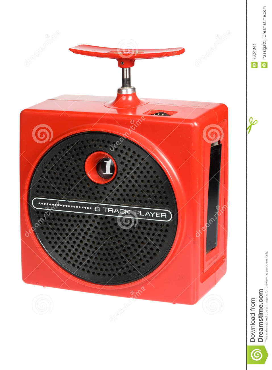 Stock Image Red Retro 8 Track Boombox Image7624341 on nostalgic sound system