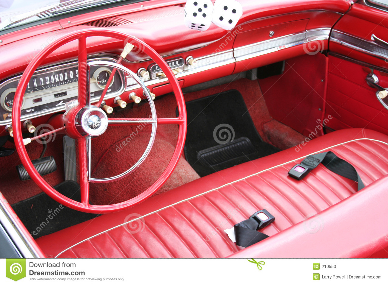 red retro car interior stock image image of wheel machine 210553. Black Bedroom Furniture Sets. Home Design Ideas