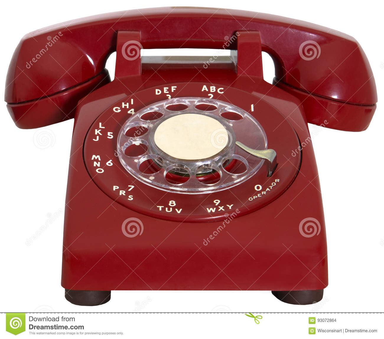 Red Retro Phone, Hotline, Isolated Stock Photo - Image of ...