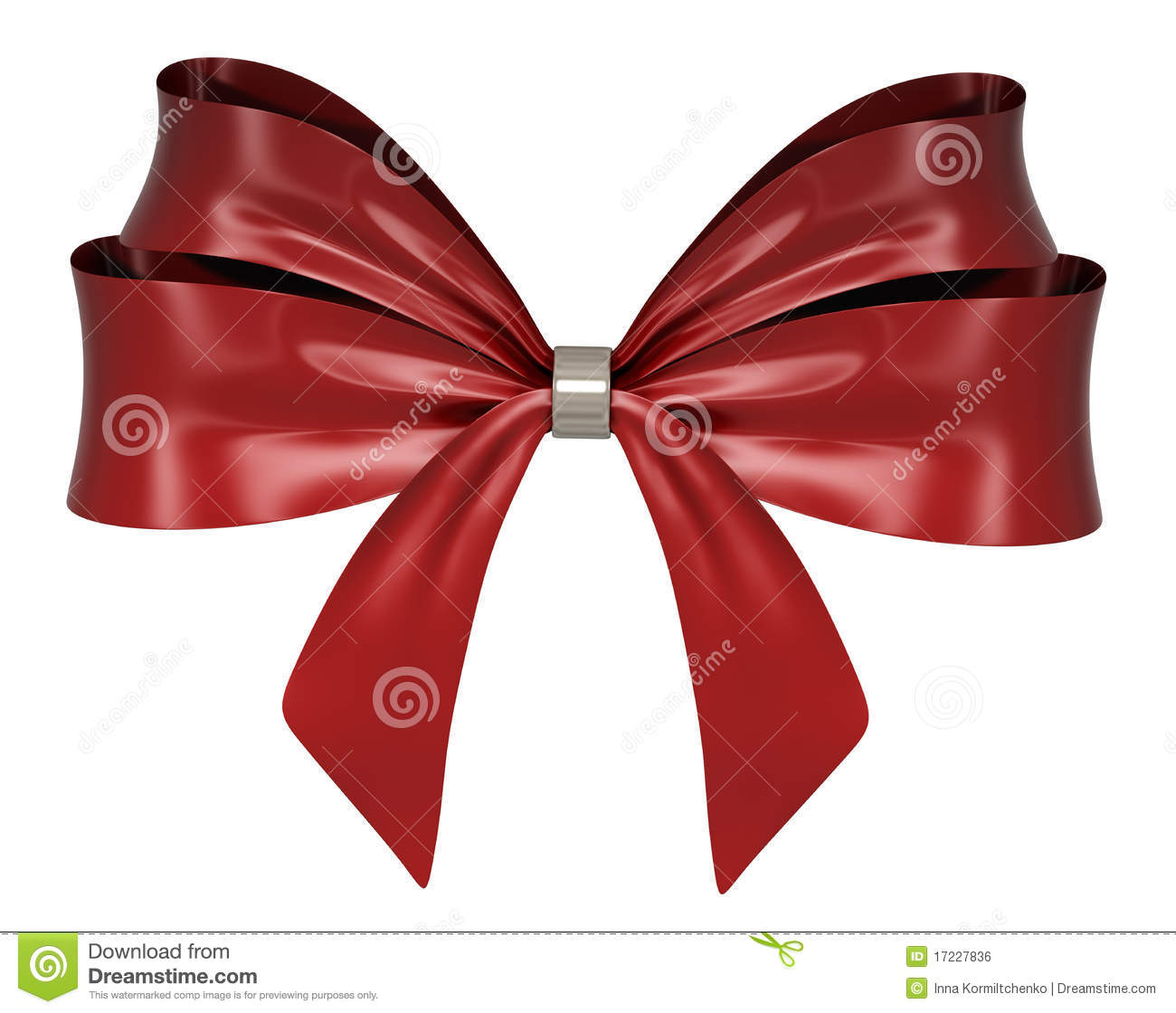 Red Ribbon Bow 3d Render Royalty Free Stock Image