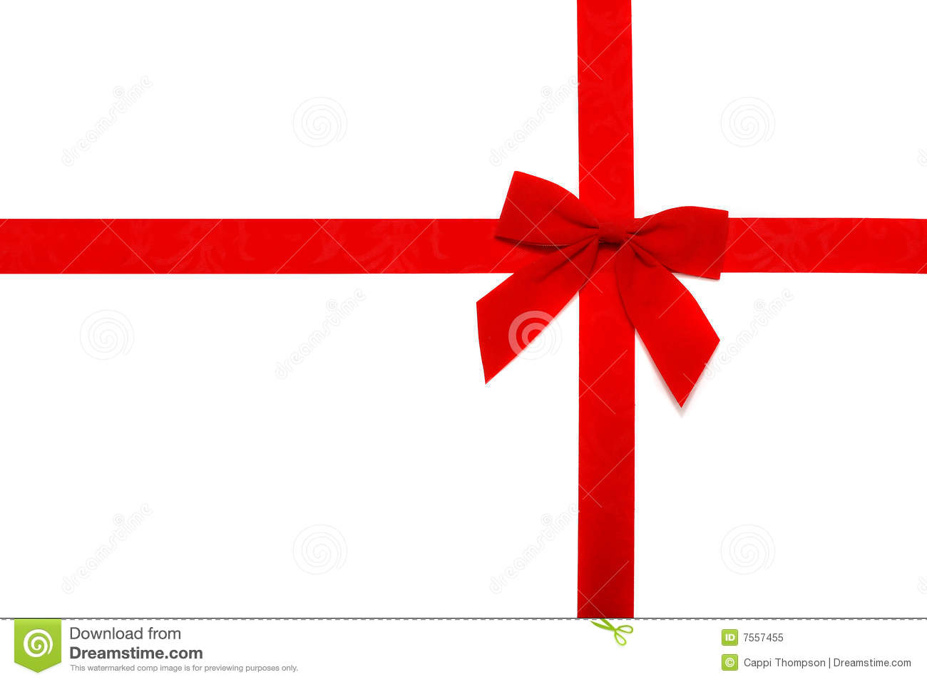 red ribbon and bow stock image image of present color 7557455