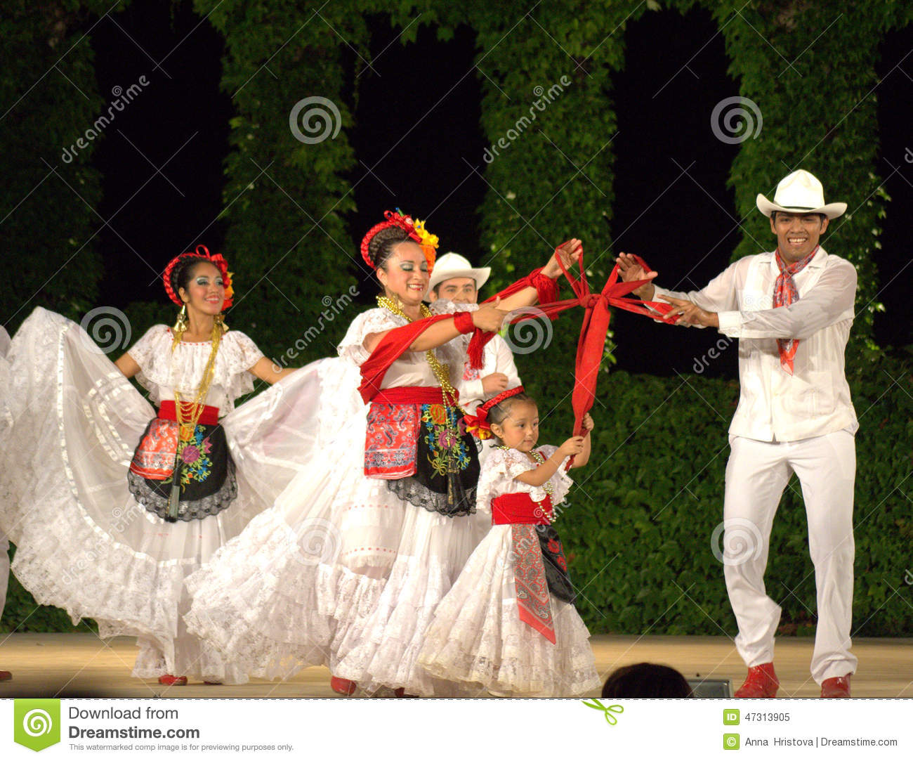 Red Ribbon Bow Family Dance Editorial Image Image of entertainment