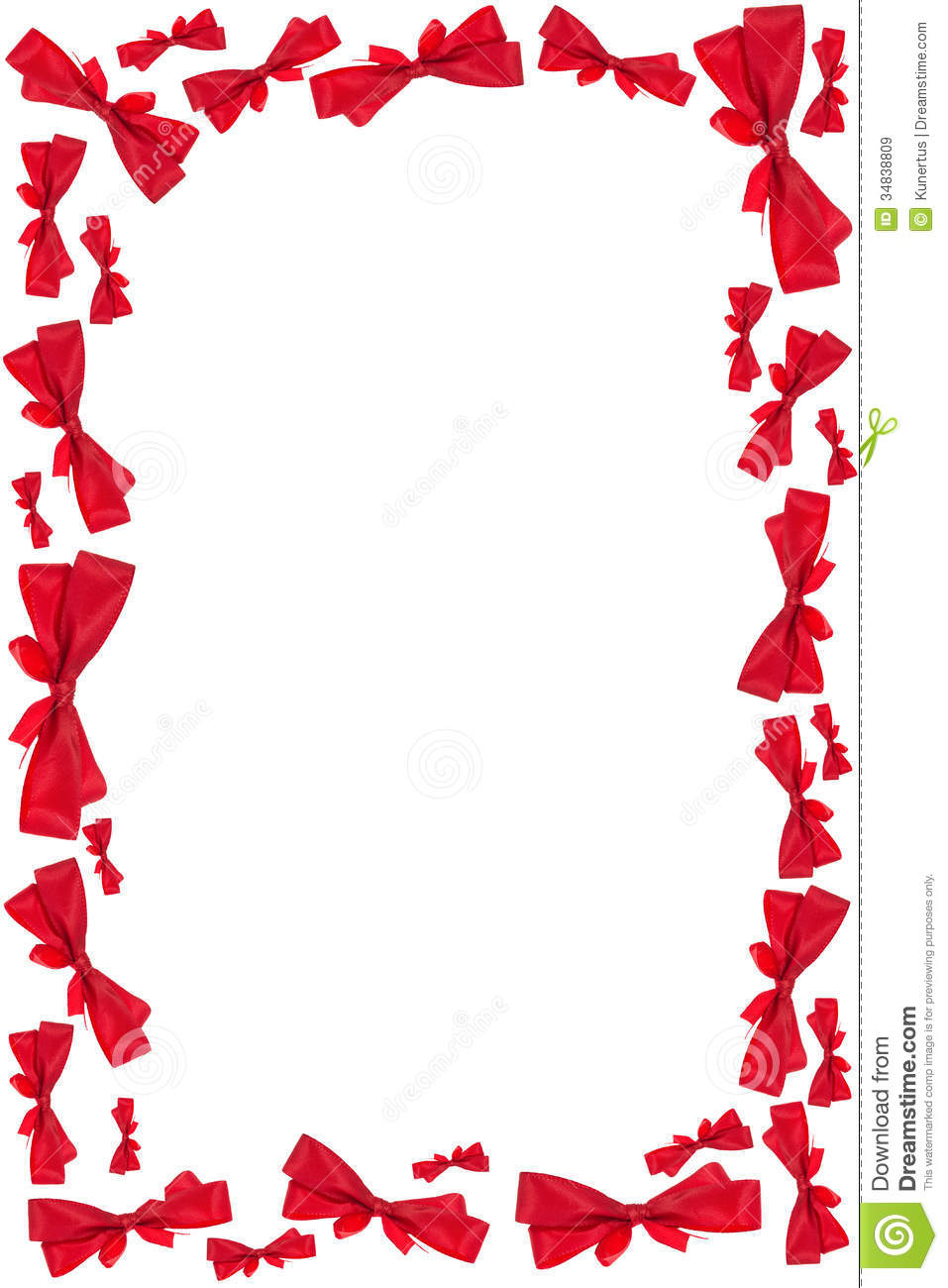 red ribbon bow frame stock image  image of banner