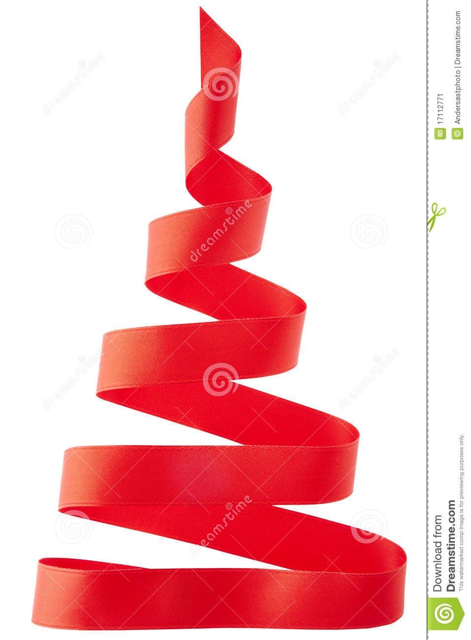 Red ribbon christmas tree stock image image 17112771 for Red ribbon around tree