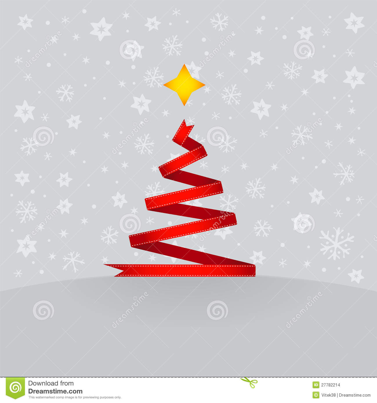 Red ribbon christmas tree stock images image 27782214 for Red ribbon around tree