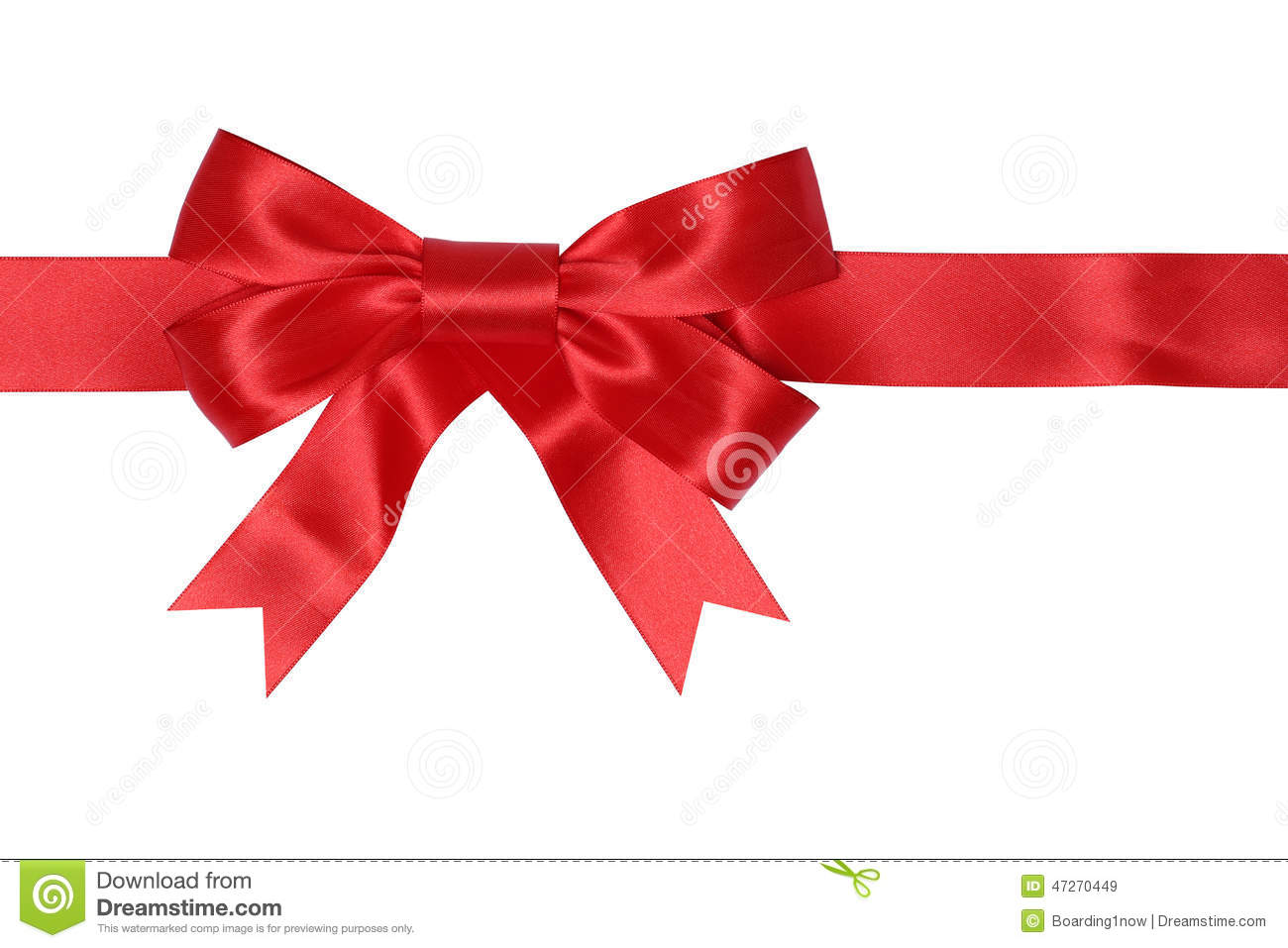 Liston Blanco Vector Png: Red Ribbon Gift With Bow For Gifts On Christmas Or
