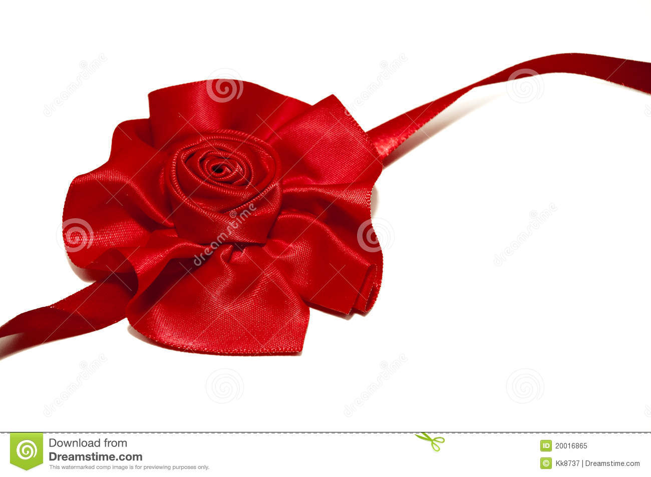 Red Ribbon Rose Stock Image Image Of Color White Gift 20016865