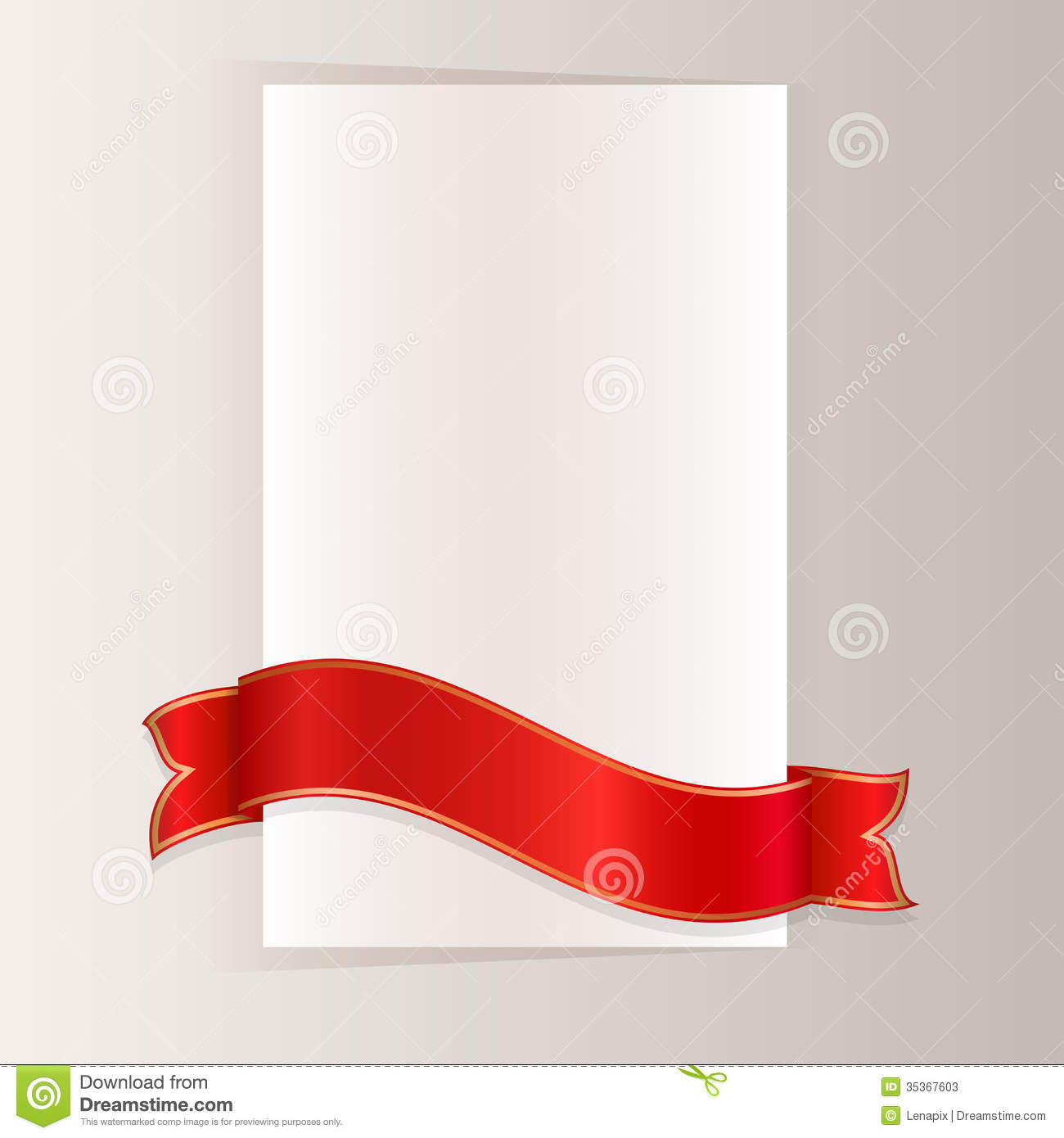 red ribbon template stock vector illustration of notice 35367603