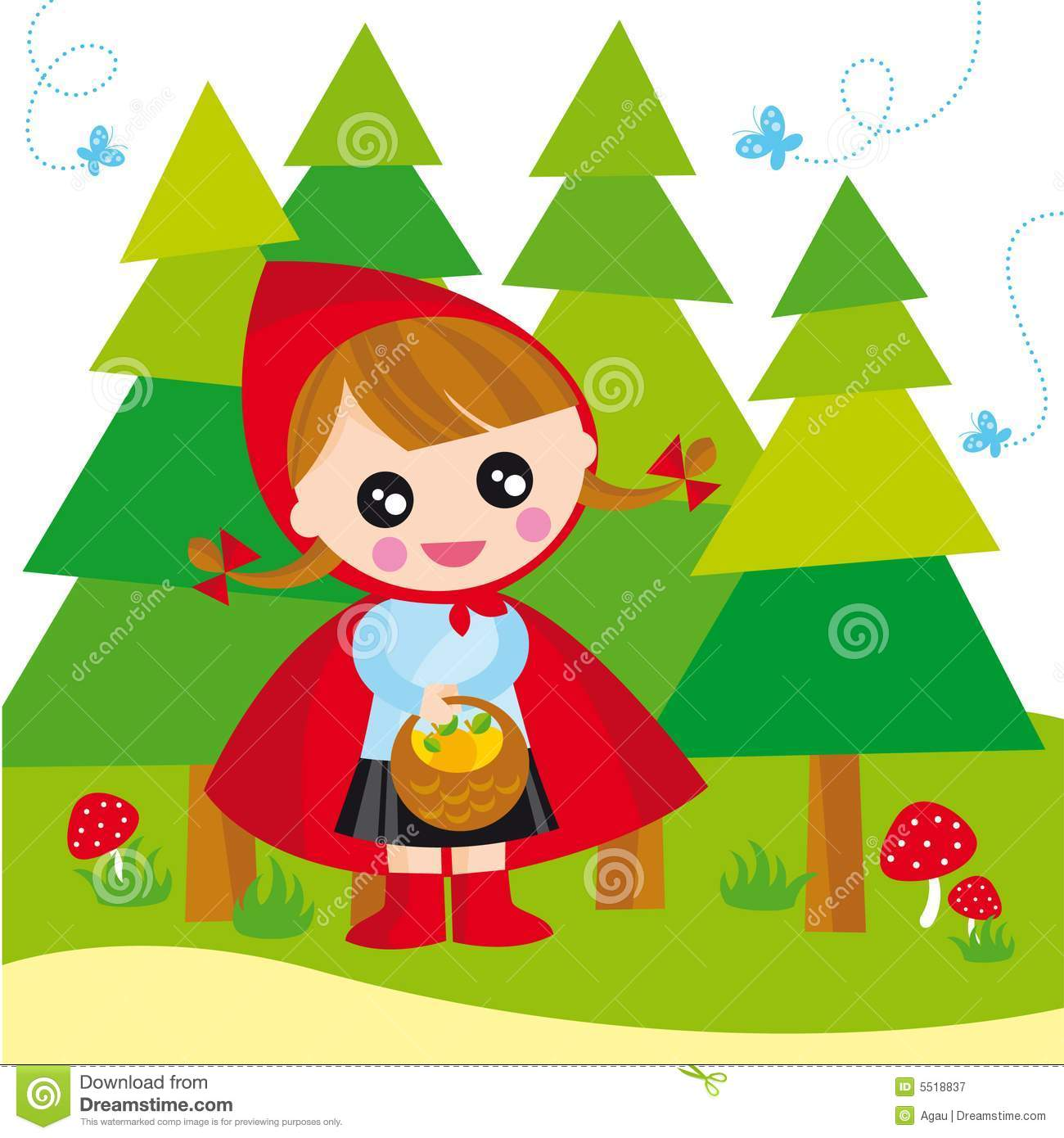 Red Riding Hood Stock Vector Illustration Of Infant