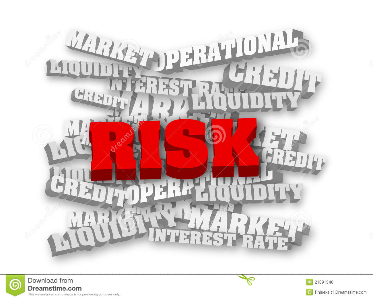 Red risk Operational Risk Clipart