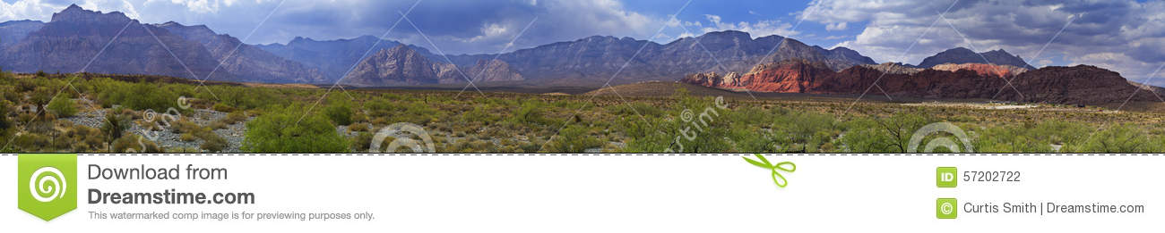 Red Rock Canyon Panorama Desert and Mountains in Nevada