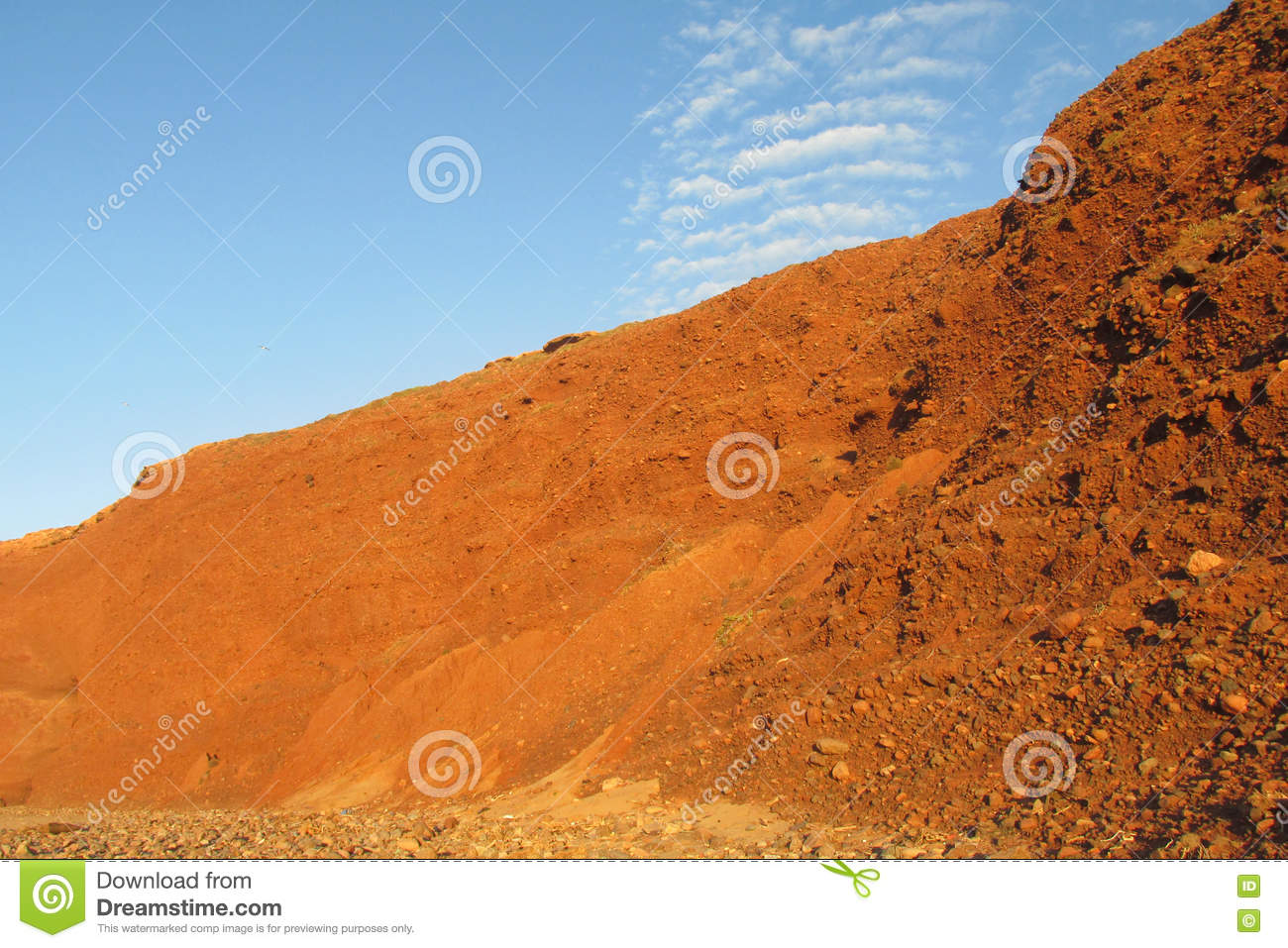 Red Rock And Mud Conglomerate Stock Image - Image of colour, orange