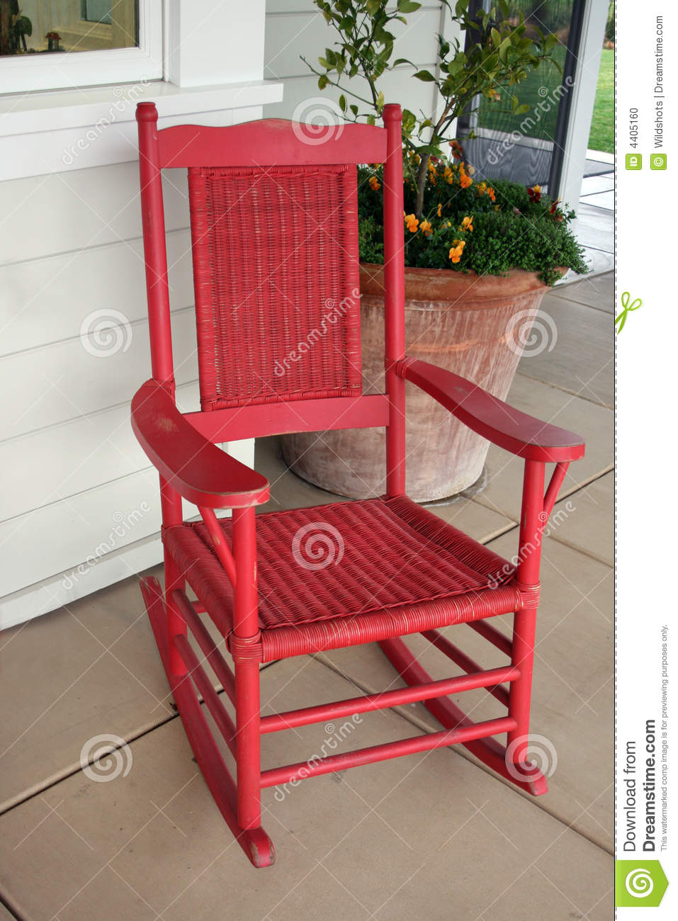Red Rocking Chair Clipart ~ Red rocking chair stock photo image