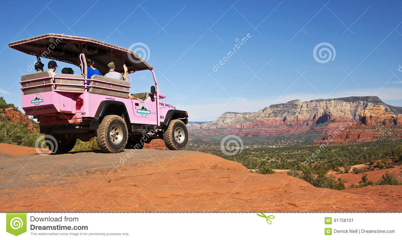 Download A Red Rocks Tour Jeep, Sedona In The Distance Editorial Photo    Image Of