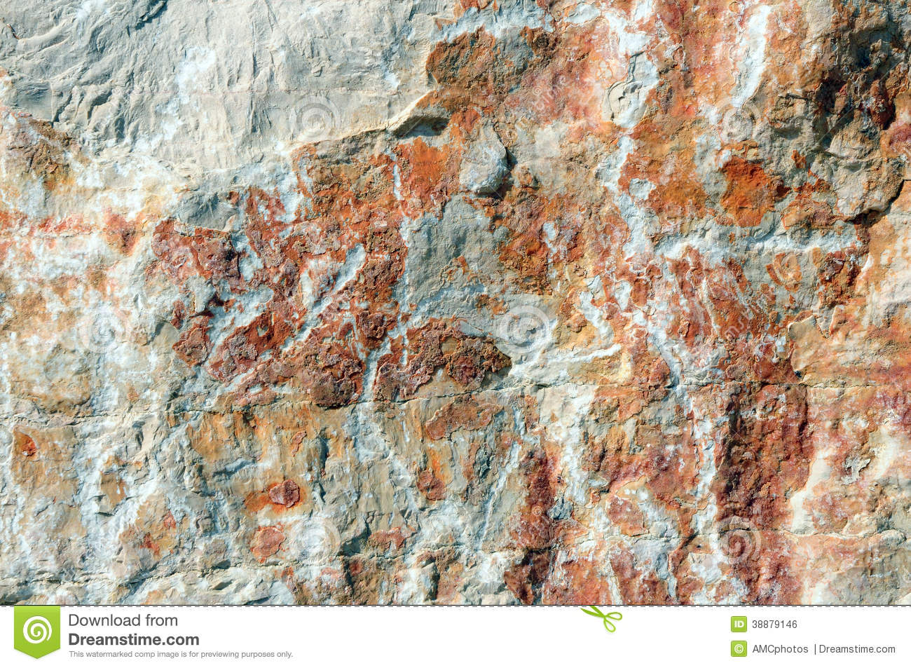 Rocky White Granite : Red rocky surface stock photo image
