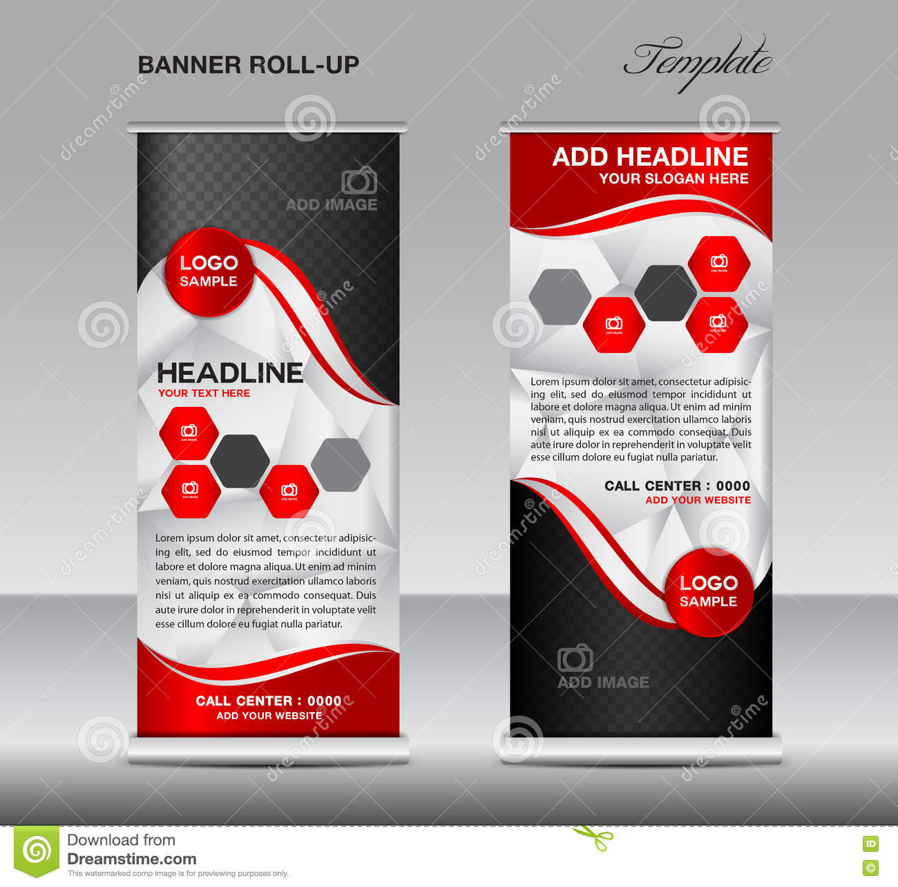 red roll up banner template vector roll up stand banner. Black Bedroom Furniture Sets. Home Design Ideas