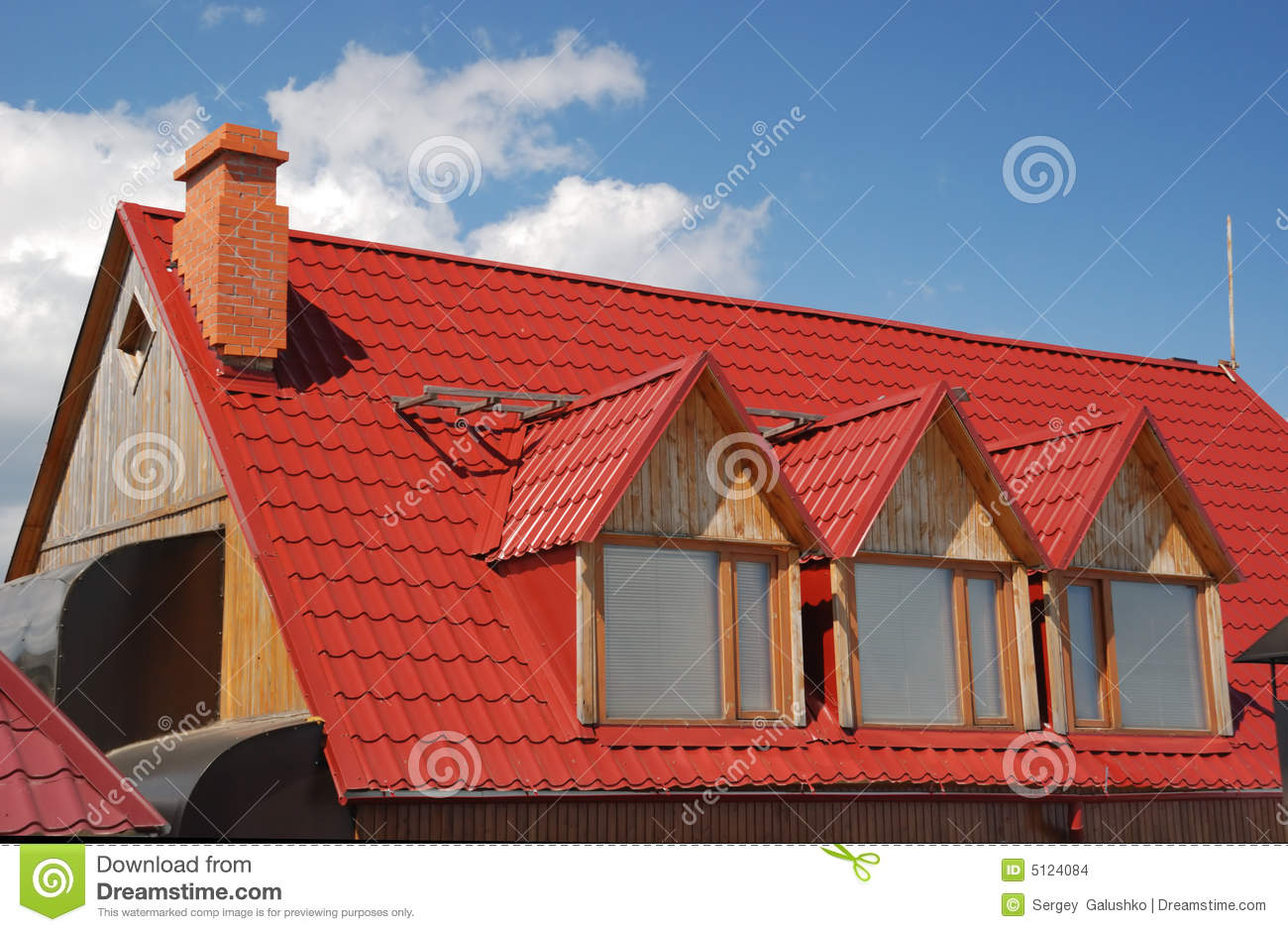 Red Roof Stock Photo Image Of Construction Tile Estate